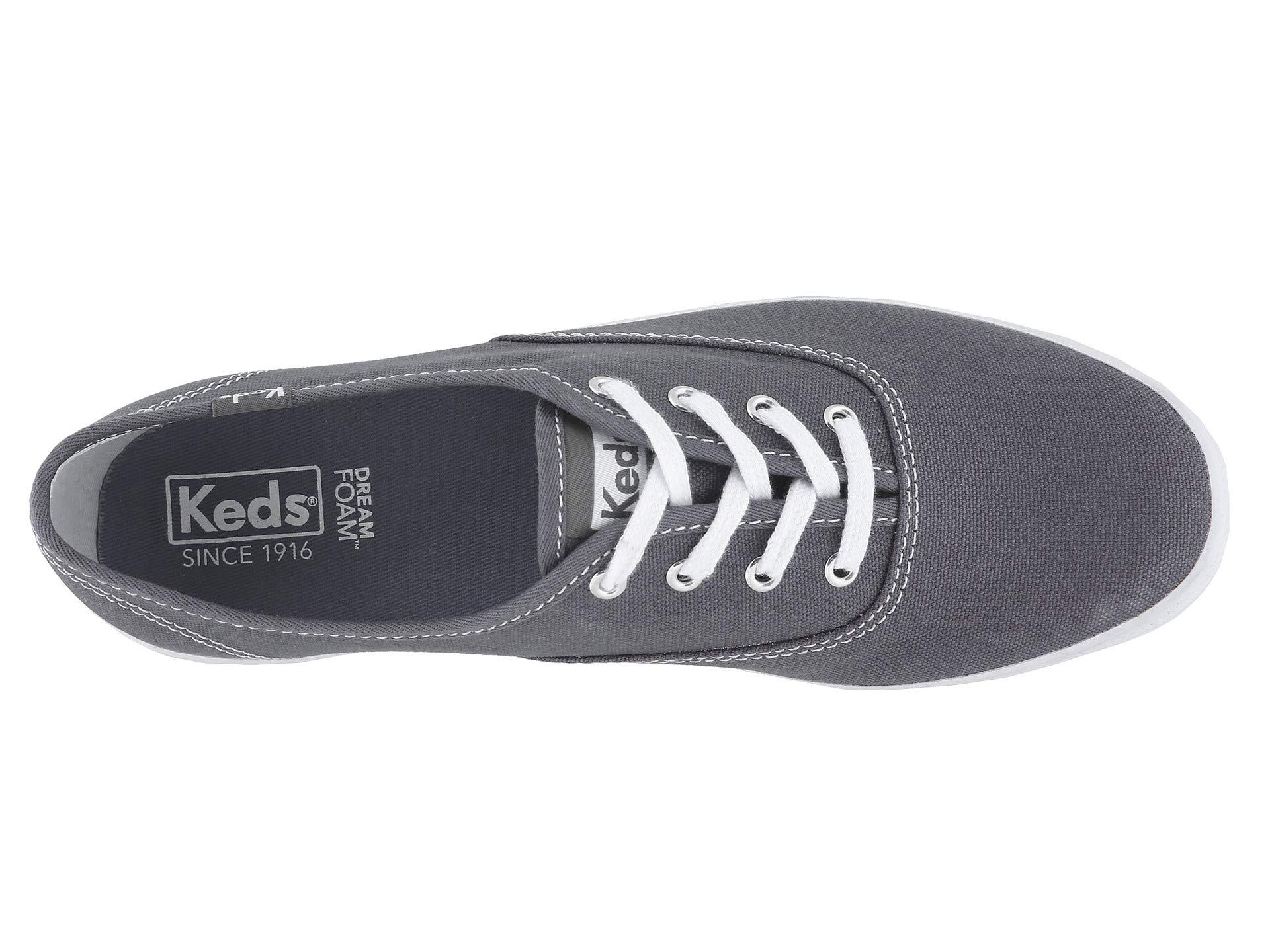 870950eb7f6 Keds - Gray Champion-canvas Cvo (graphite) Women s Lace Up Casual Shoes -.  View fullscreen