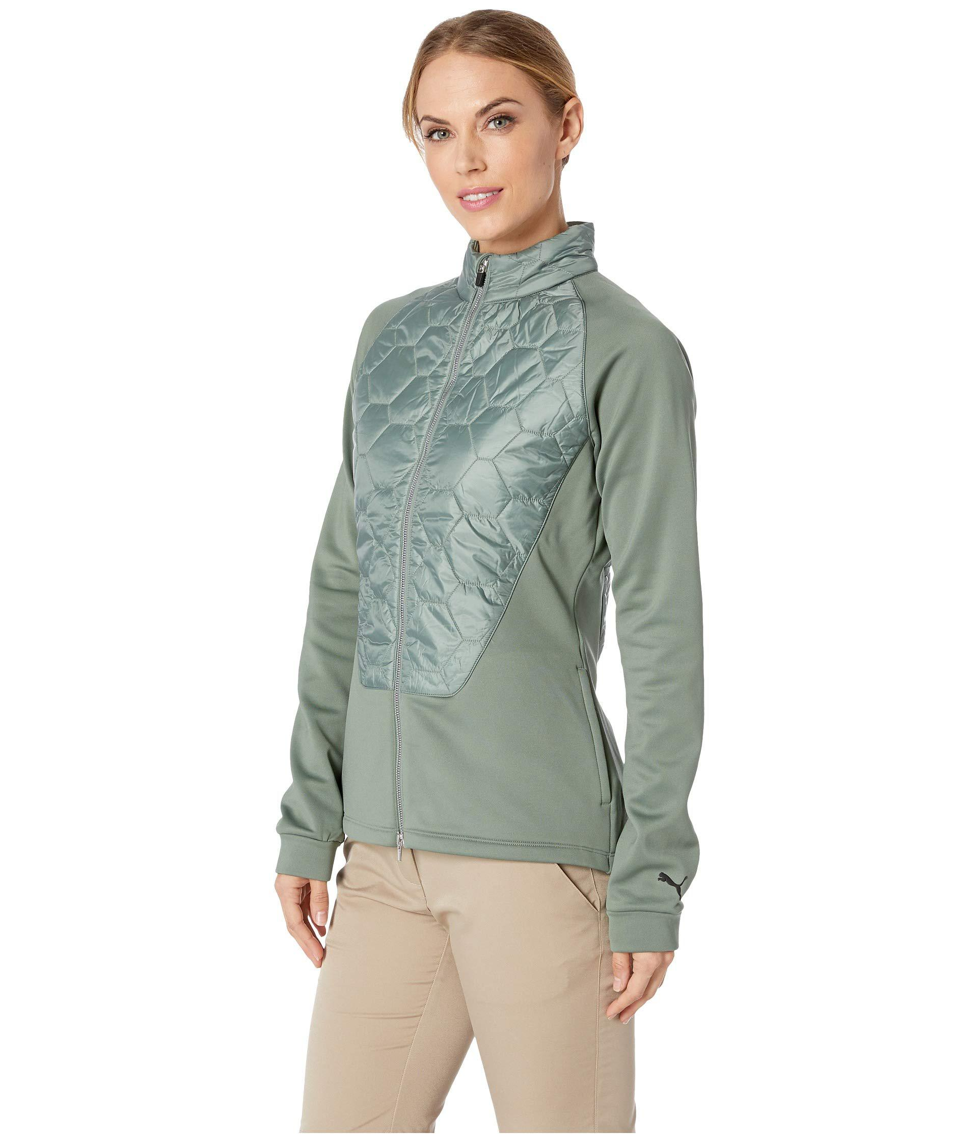 789b0e86727b Lyst - PUMA Pwrwarm Dassler Jacket (laurel Wreath) Women s Coat in Green