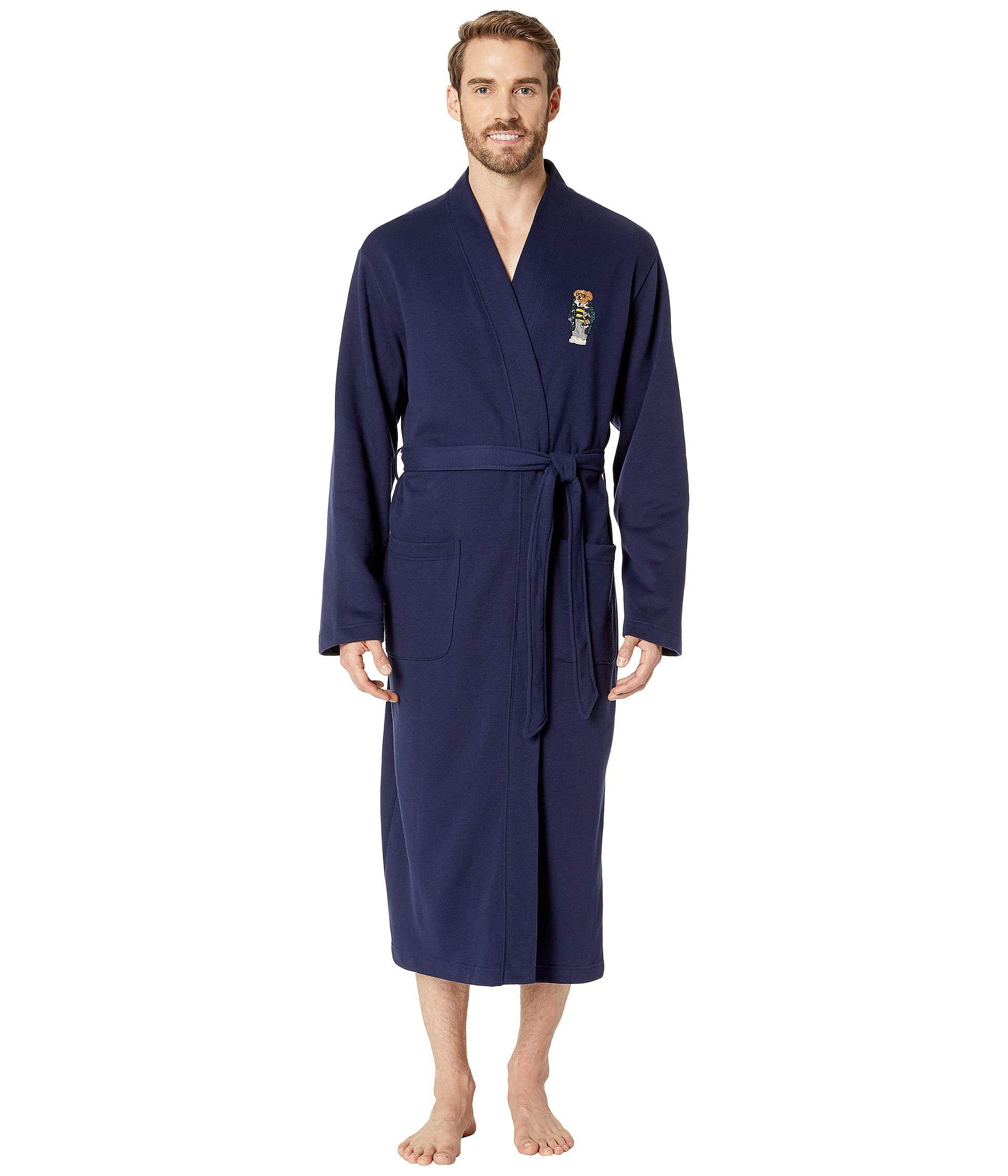c21e0685c4 Lyst - Polo Ralph Lauren Long Sleeve Fleece Kimono Robe (cruise Navy ...