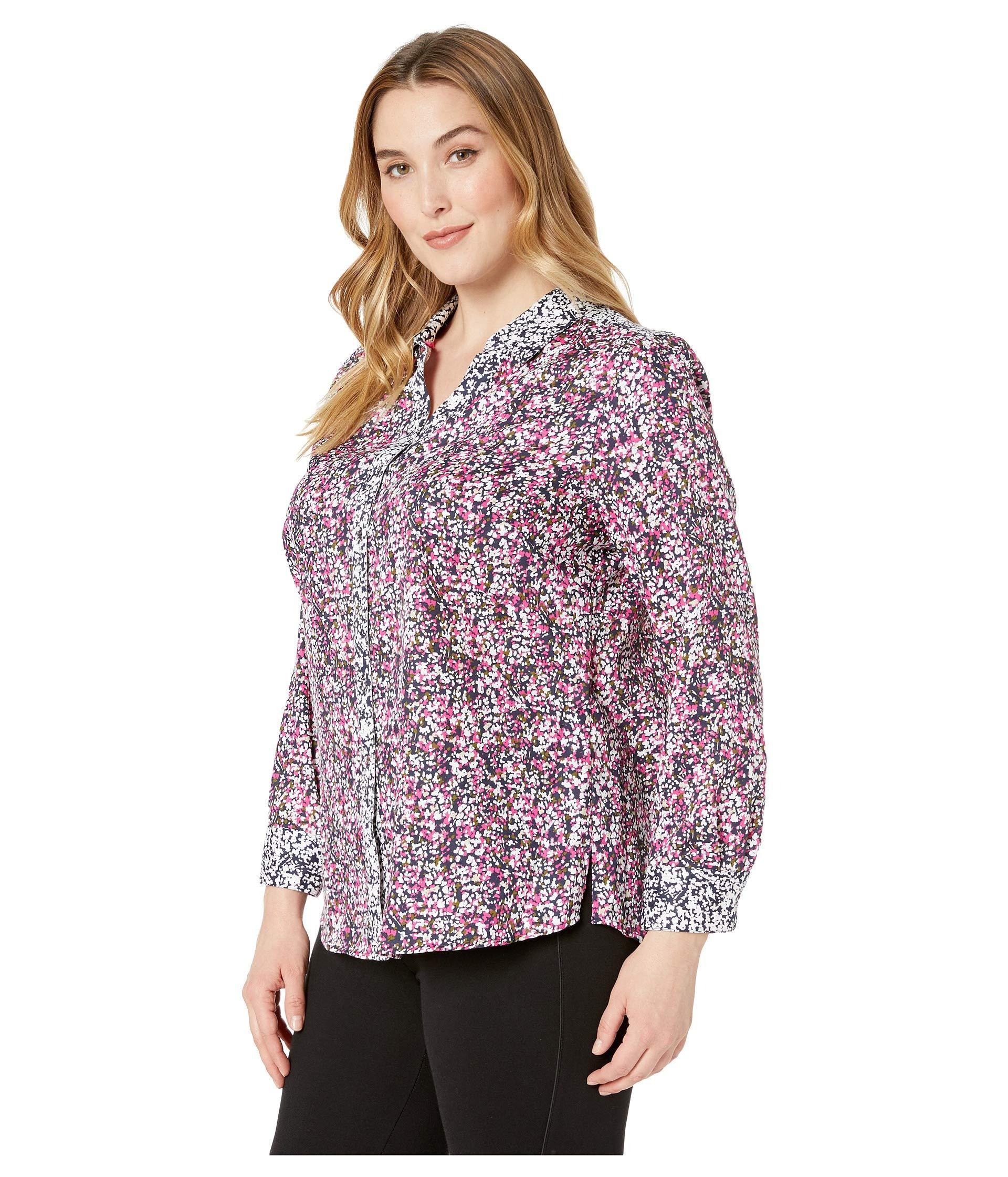 d93b4d5d3ad Lyst - Foxcroft Plus Mary Garden Party (multi) Women s Clothing in Purple