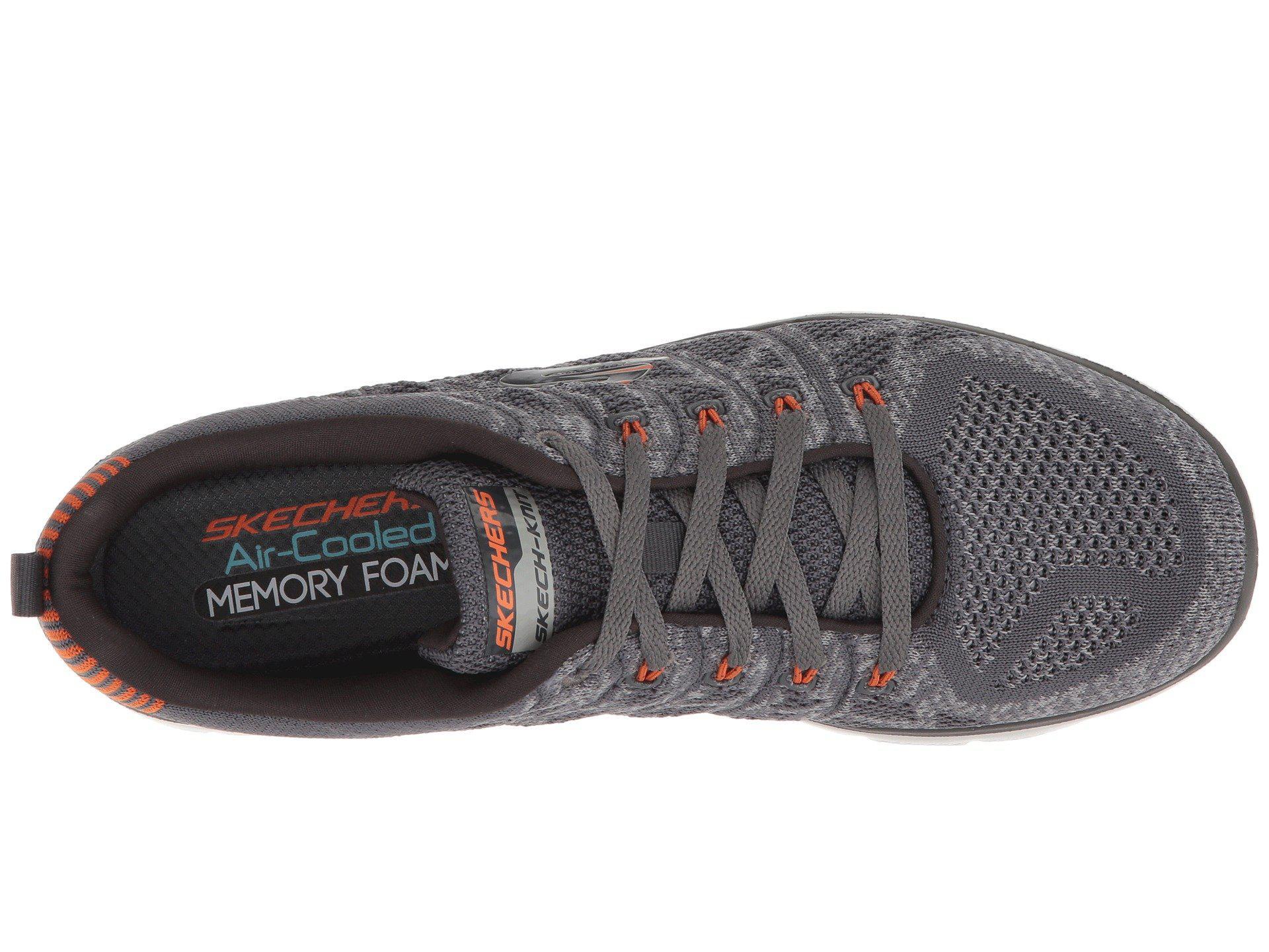 3f95392fbc9f7 Skechers - Gray Flex Advantage 2.0 Talamo (black/white) Men's Lace Up Casual.  View fullscreen