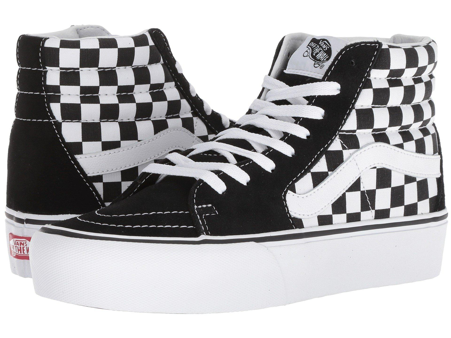 6591edb53c433d Vans - Multicolor Sk8-hi Platform 2.0 (checkerboard true White) Skate  Shoes. View fullscreen