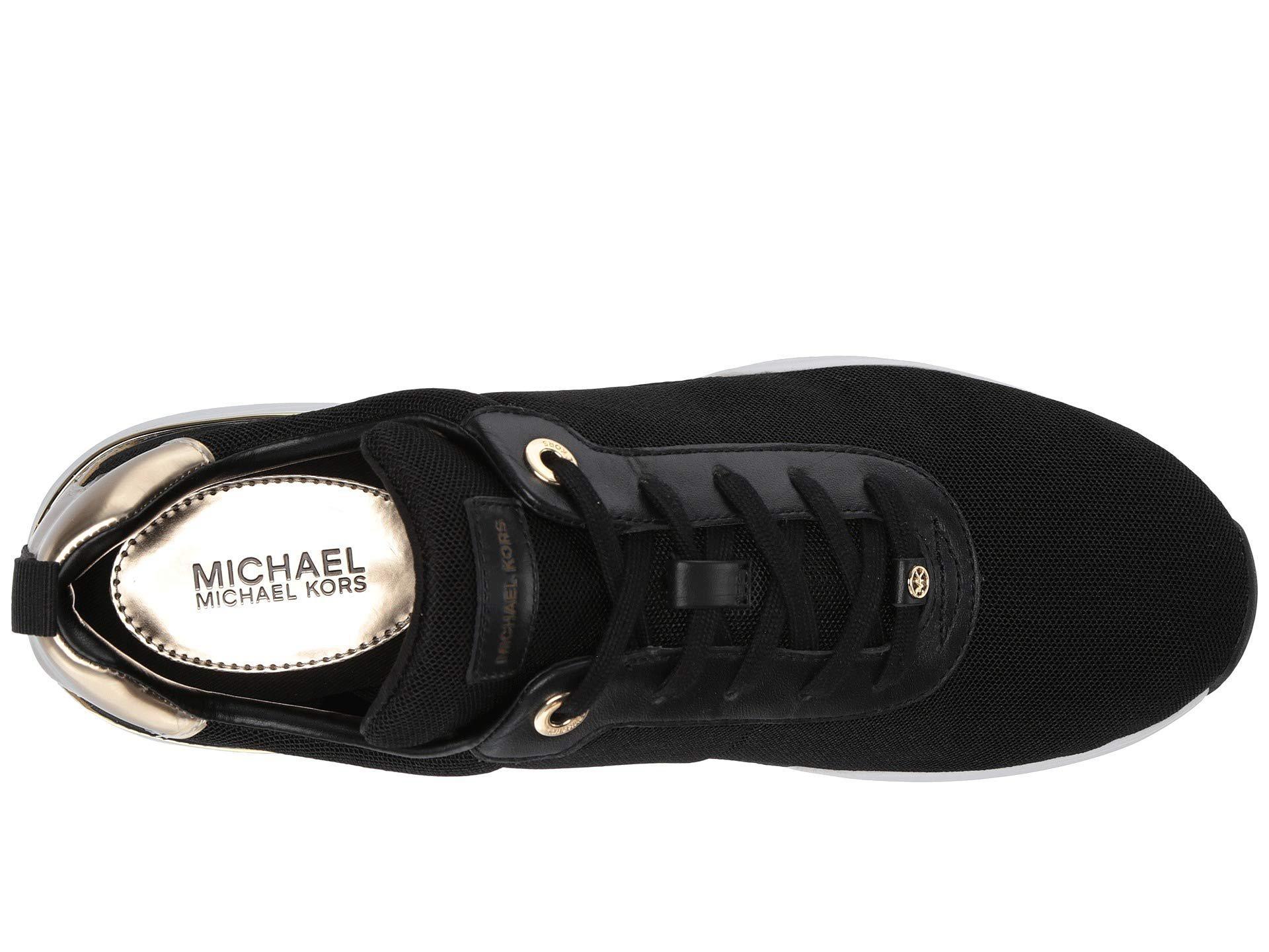 c333764476fd8 Lyst - MICHAEL Michael Kors Jada Trainer (black gold Small Air Mesh ...