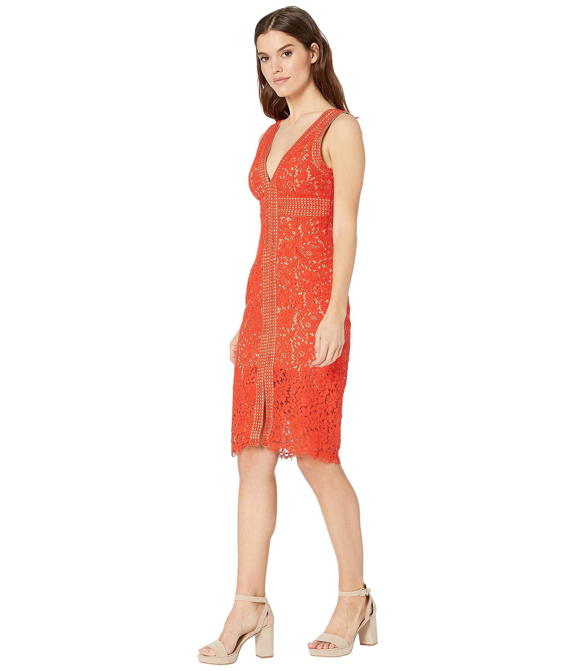 eb5e2d9716e8 Bardot Morgan Lace Dress (black) Women's Dress in Red - Lyst