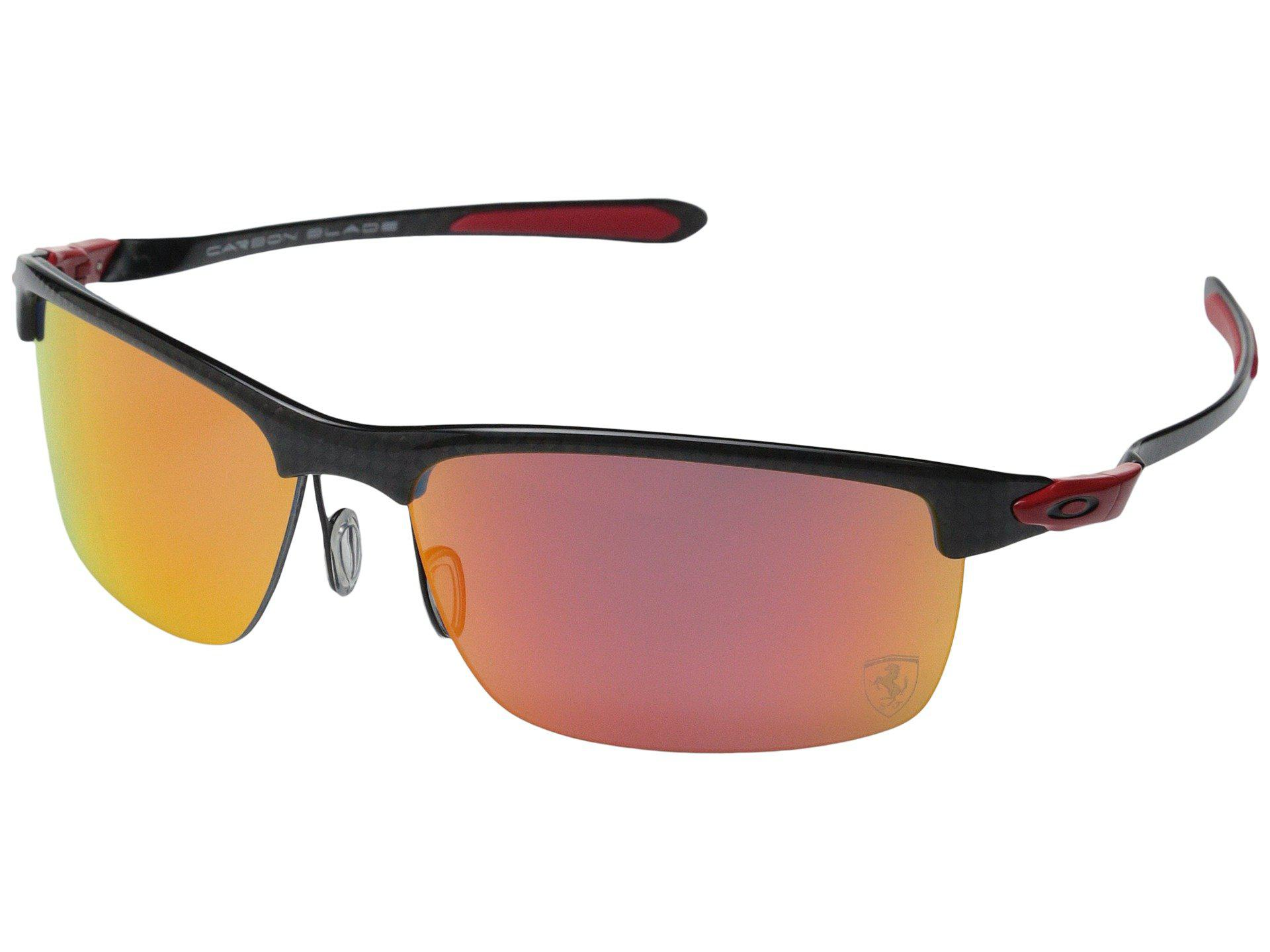 2b1b7b4d863 Lyst - Oakley Carbon Blade in Red for Men