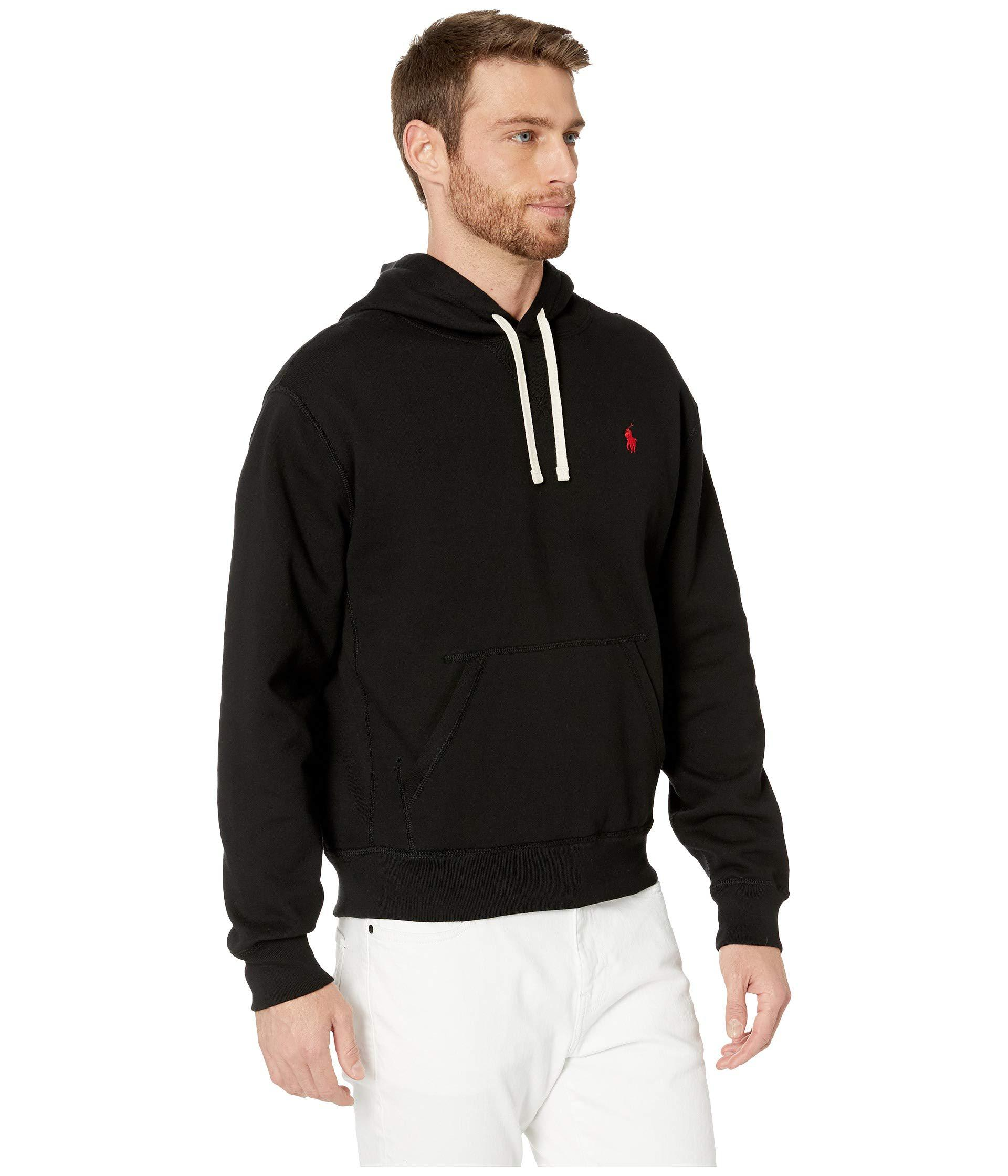 32eb62076 Polo Ralph Lauren - Black Long Sleeve Classic Athletic Fleece Pullover  Hoodie (light Sport Heather. View fullscreen