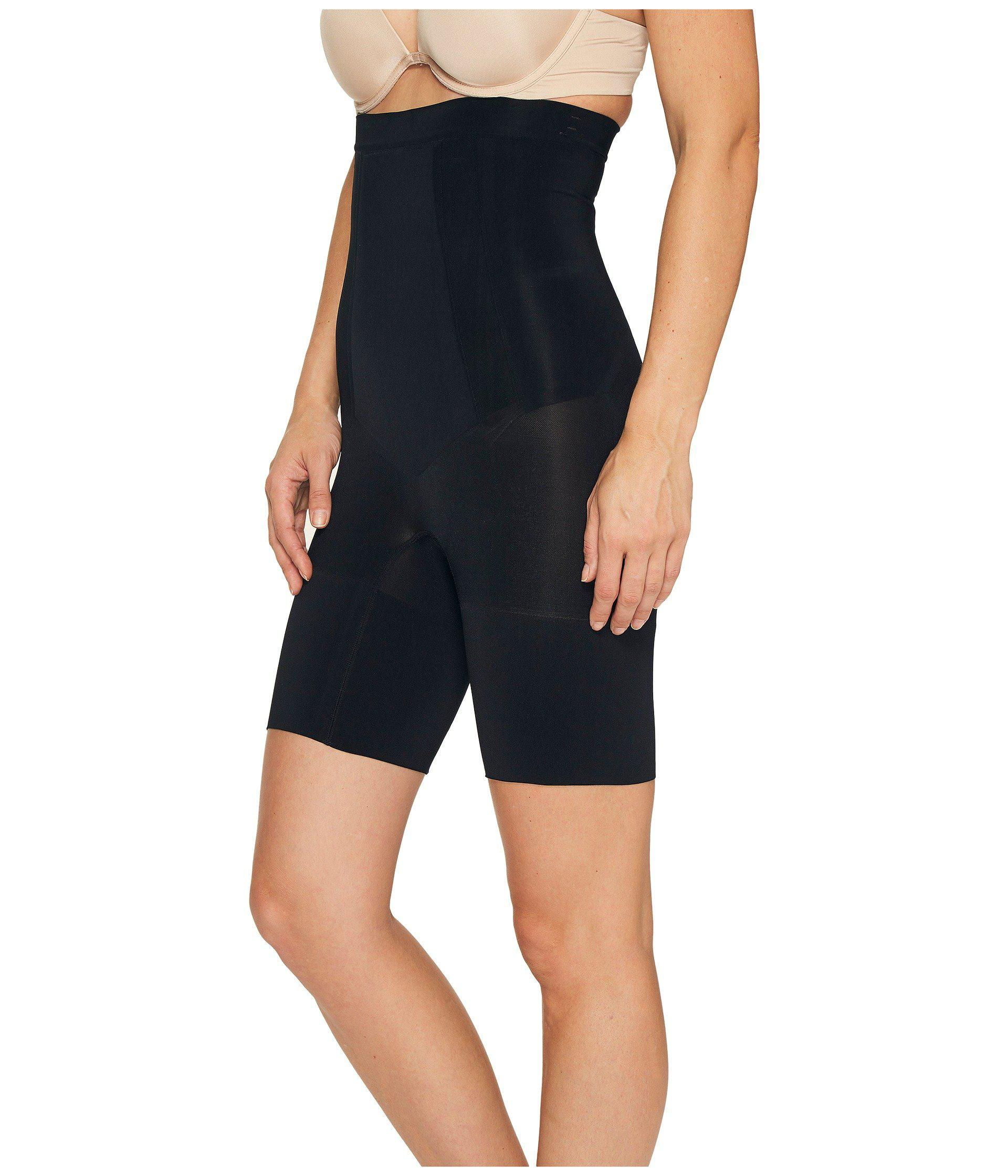 df094e70b1 Spanx Oncore High-waisted Mid-thigh Short (very Black) Women's ...