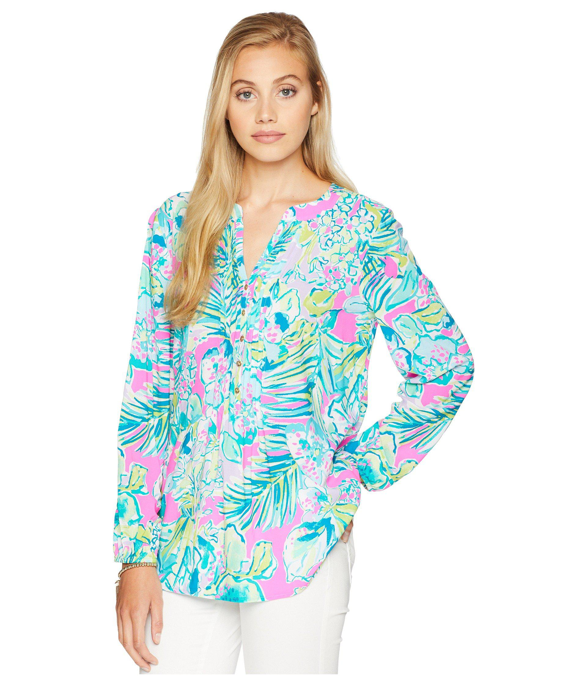 fe5c3b5a3cf Lyst lilly pulitzer harbour island tunic multi early bloomer jpg 1920x2240 Early  bloomer