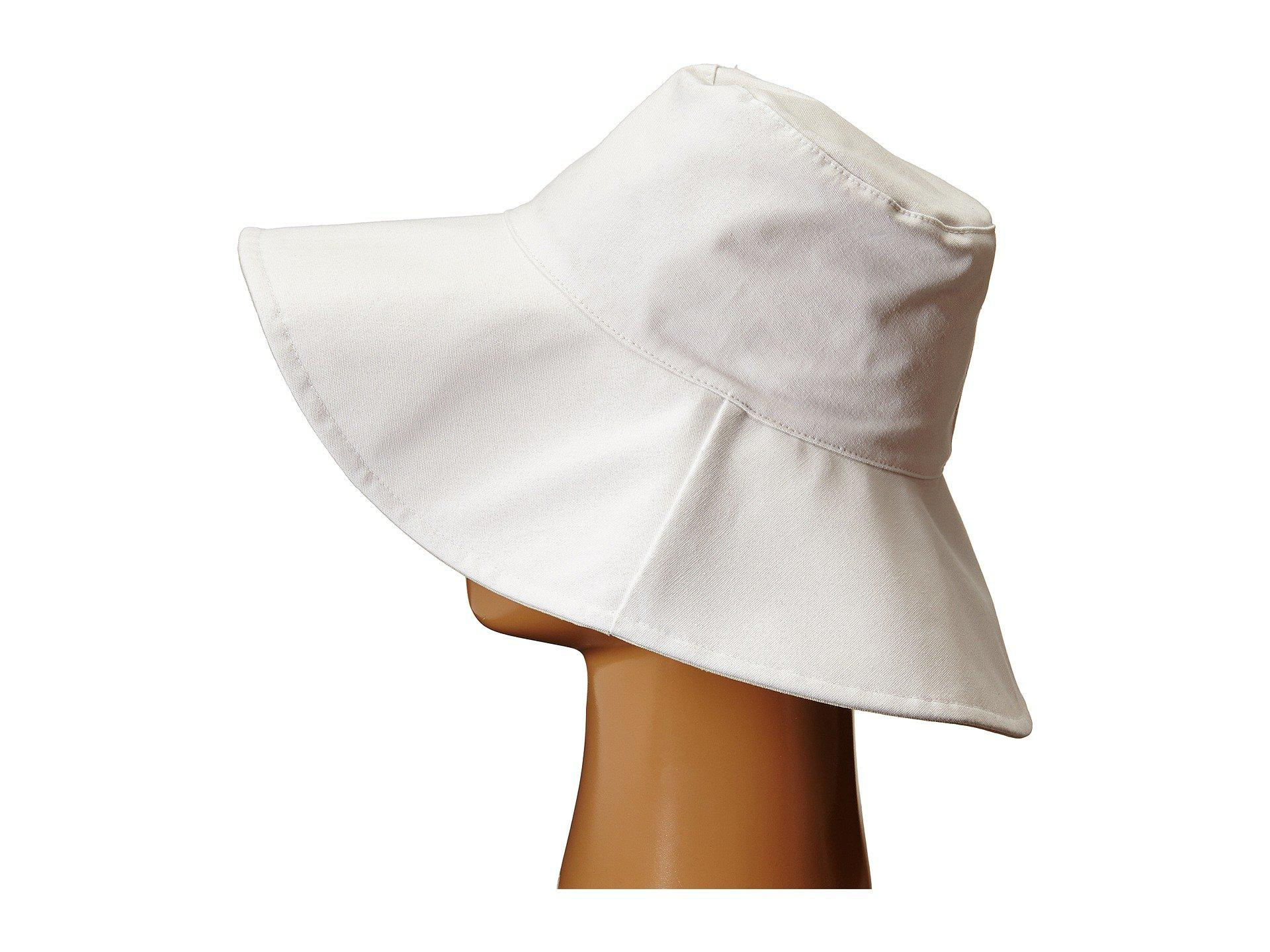 Lyst - Hat Attack Canvas Reversible Sunhat (white) Traditional Hats ... 6da88ada6983