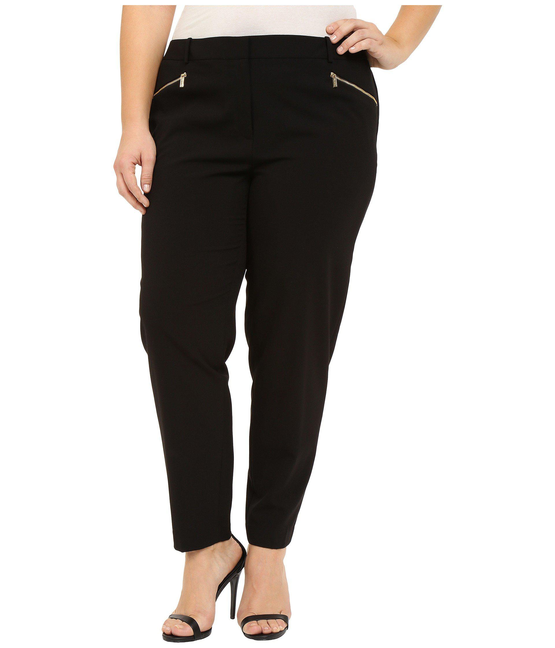 14773c1ade9 Lyst - Calvin Klein Plus Size Skinny Pants With Zippers (black ...