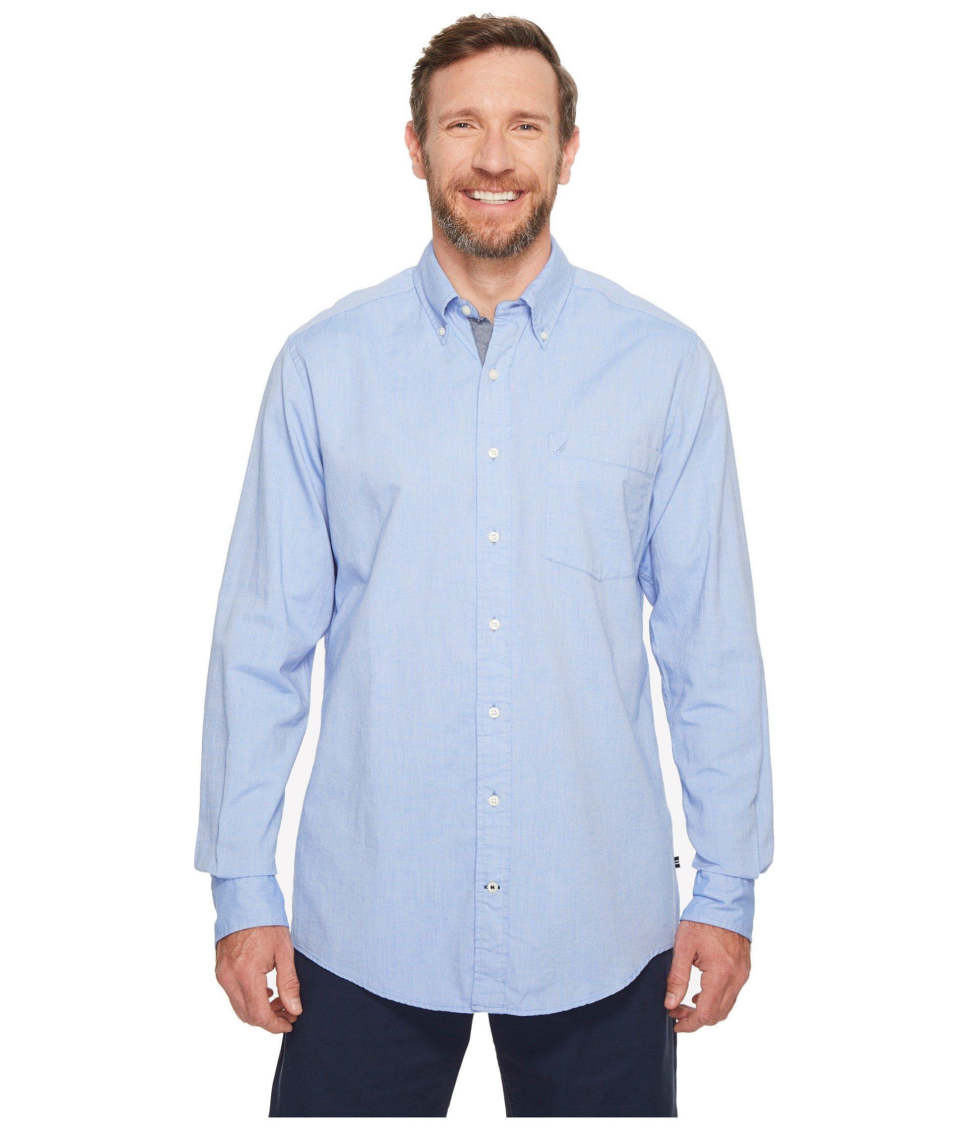 0601ec140f7833 Lyst - Nautica Big Tall The Hitch Long Sleeve Oxford Woven Shirt ...