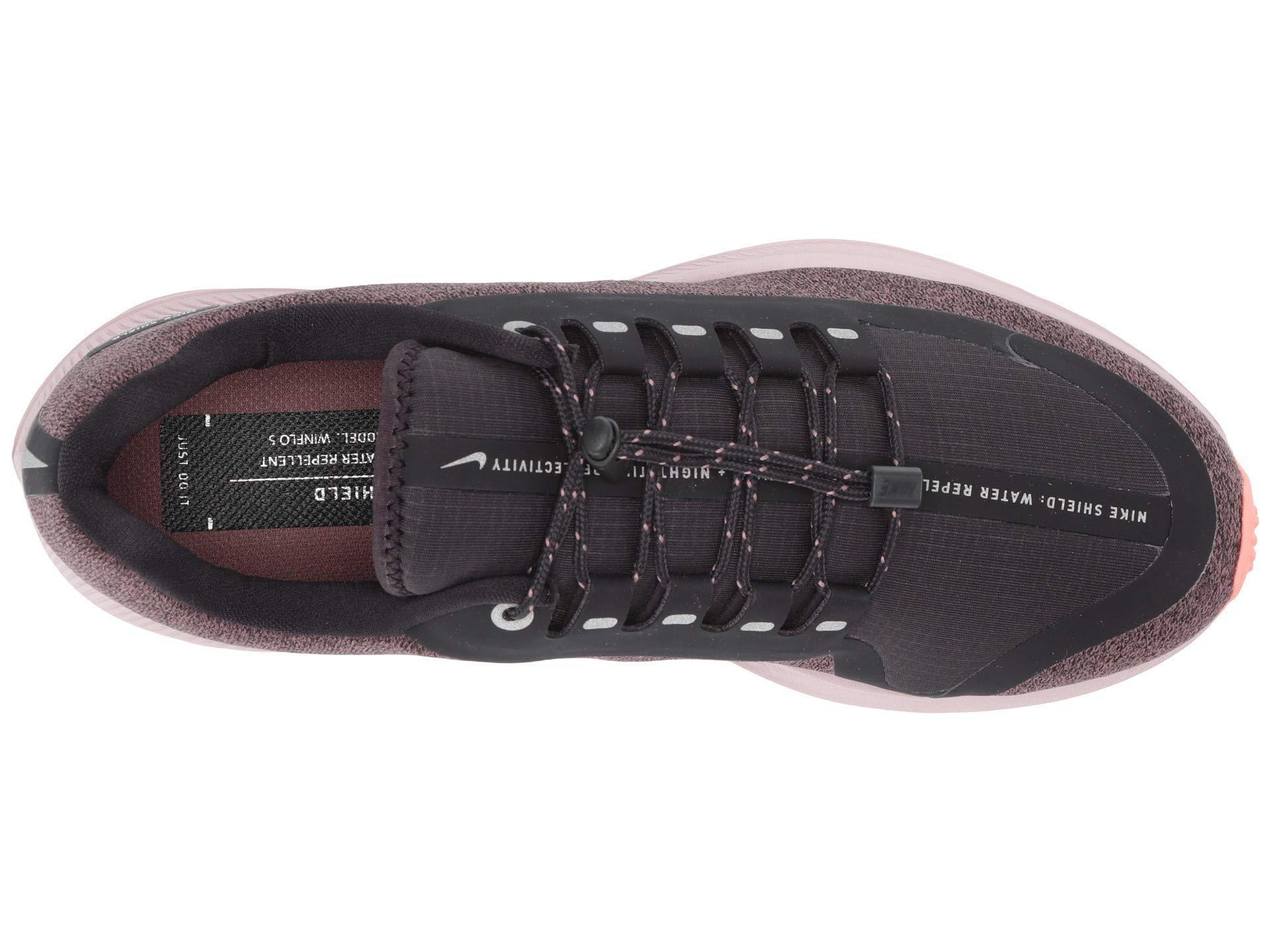 4b13b785a95 Nike - Air Zoom Winflo 5 Run Shield (smokey Mauve metallic Silver oil. View  fullscreen