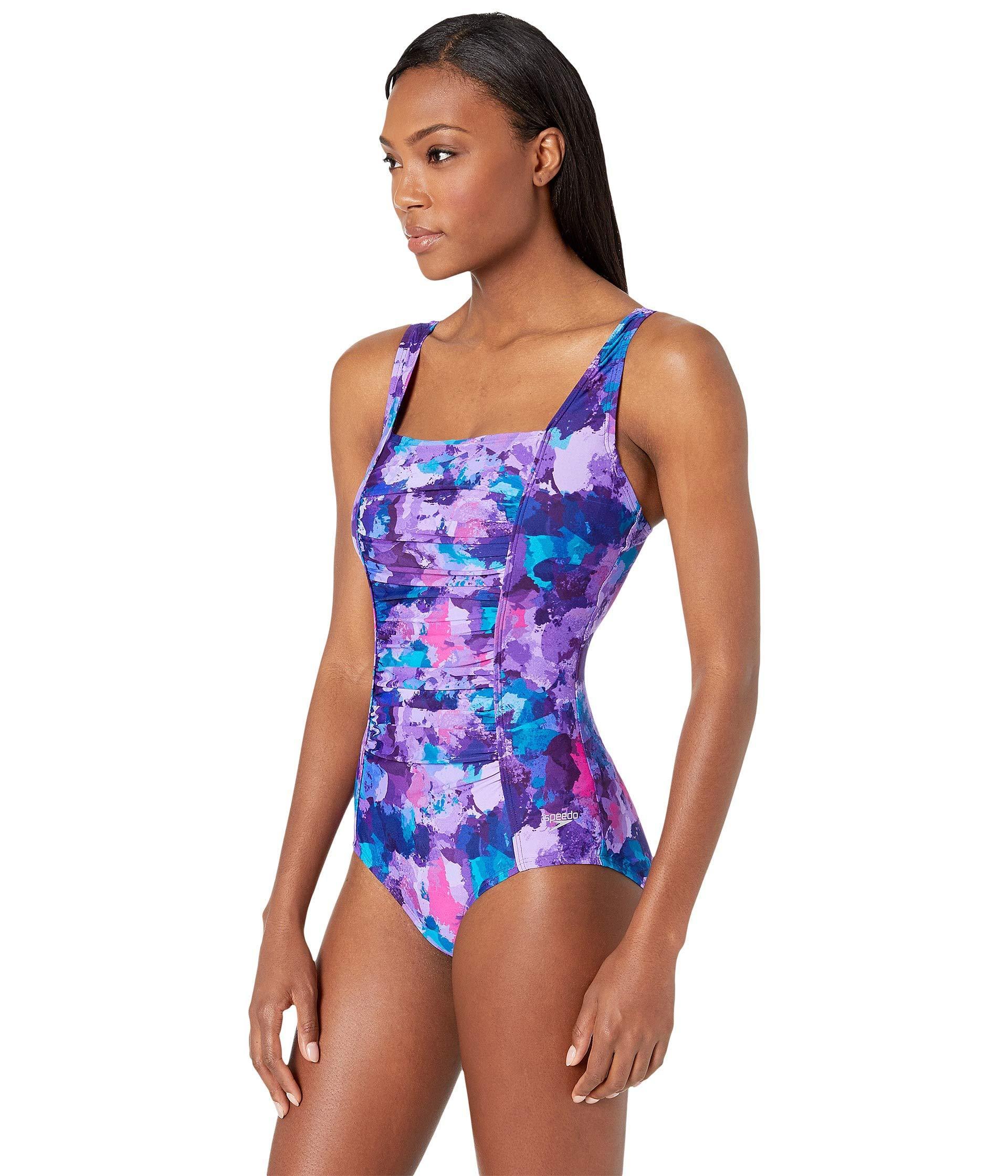 084faf94d8db7 Speedo Endurance Plus Shirred Tank Swimsuit (multi) Women's ...
