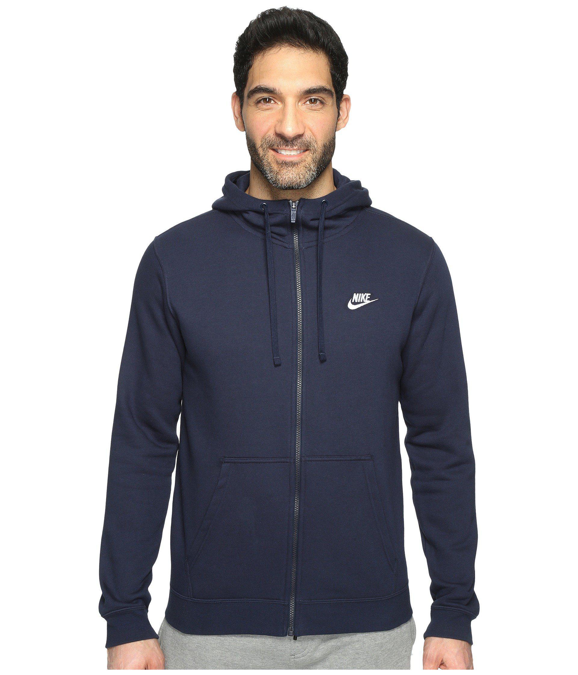 295d742e5ba3 Lyst - Nike Club Fleece Full-zip Hoodie (charcoal Heather charcoal ...