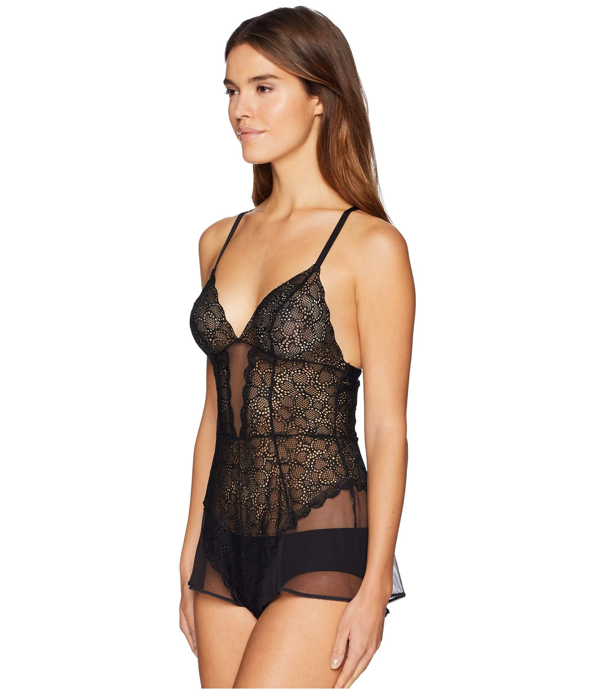 c58174f0f4b0 Lyst - DKNY Superior Lace Romper Teddy (whisky Rose) Women s ...