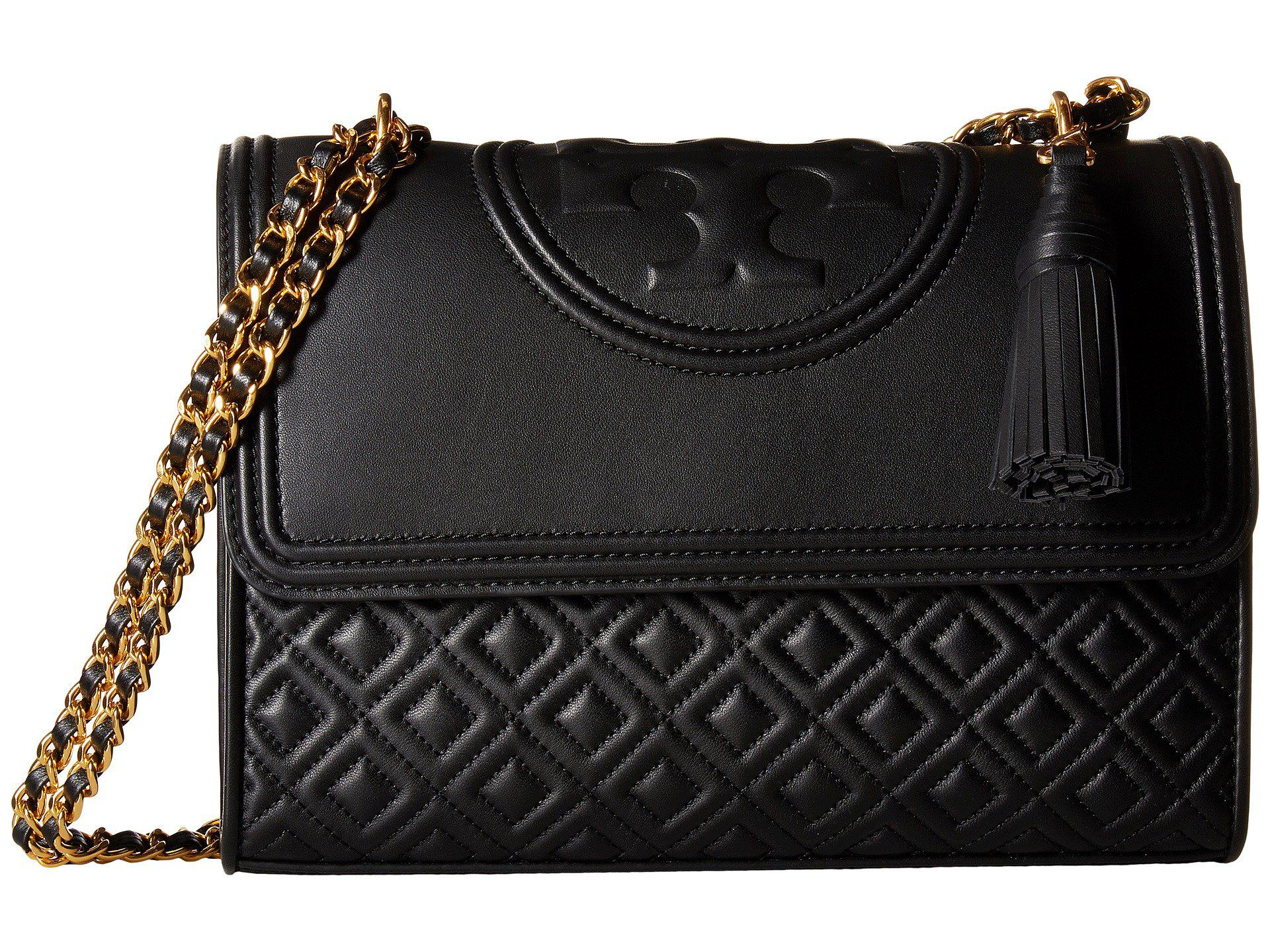 f8cb643b0e62 Lyst - Tory Burch Fleming Convertible Shoulder Bag (black) Shoulder ...