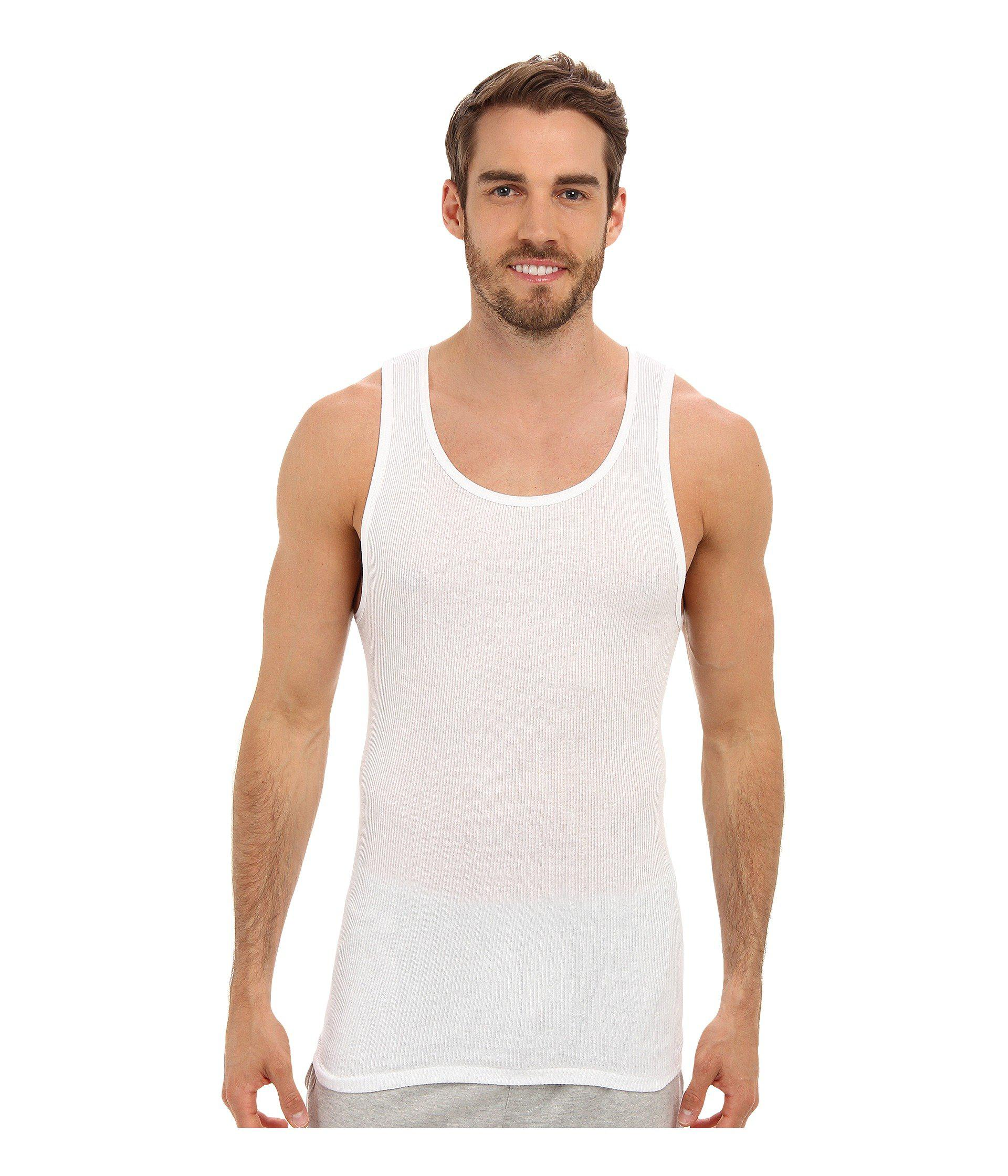 212d732e18a8d3 Lyst - Jockey Cotton A-shirt 3-pack (white) Men s Underwear in White for Men