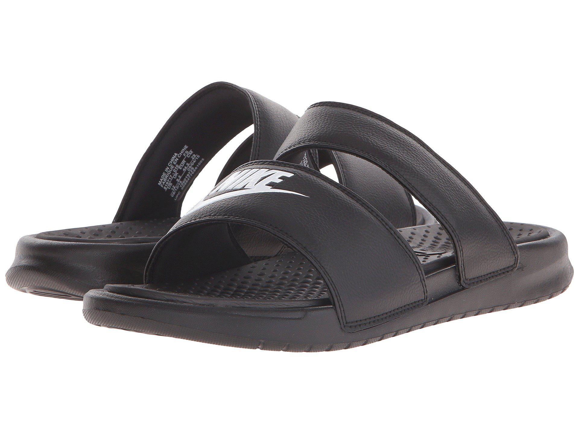 4db123b4d820 Nike. Black Benassi Duo Ultra Slide (white metallic Silver) Women s Slide  Shoes