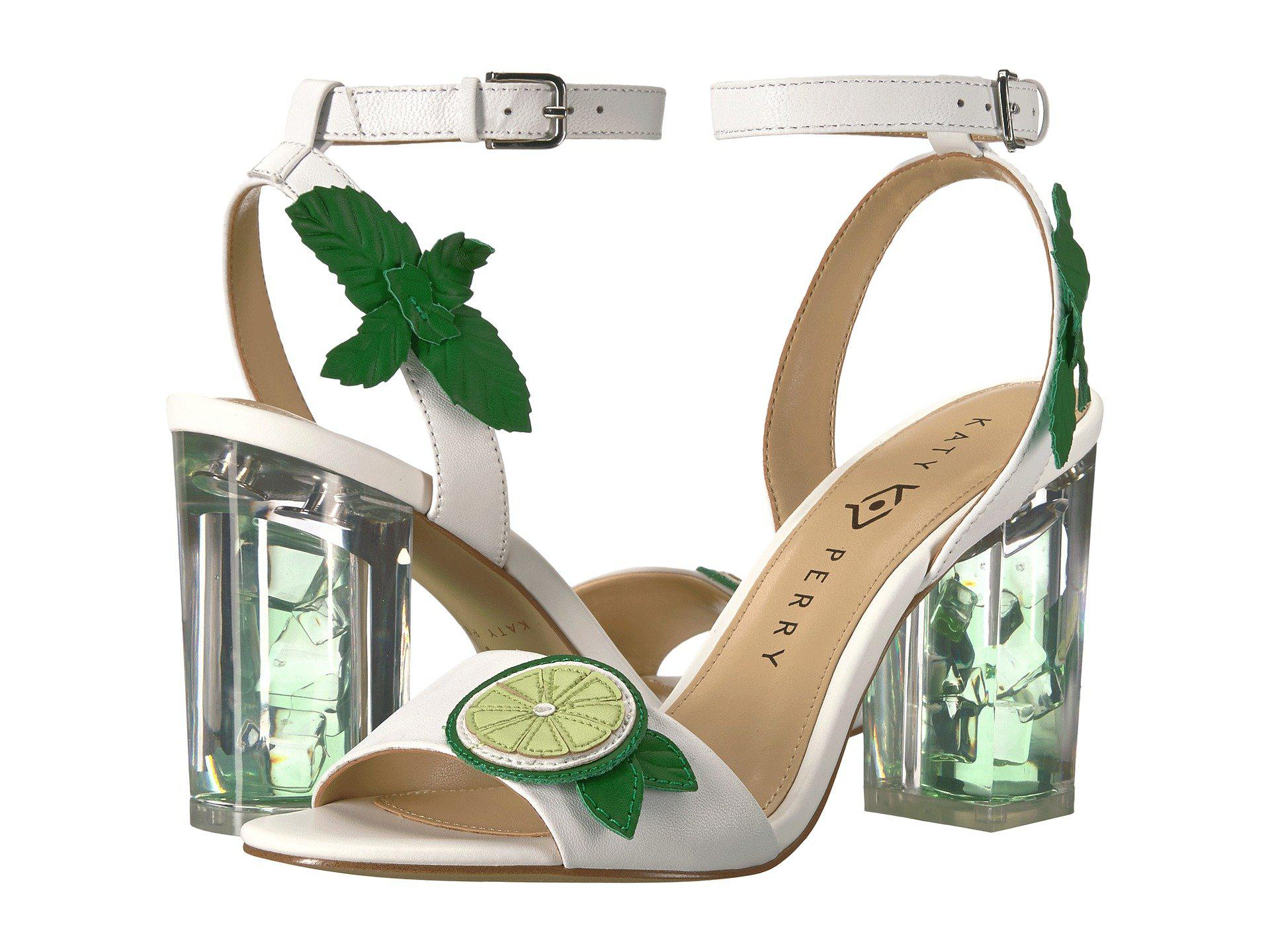 d7cd1aca29ea Katy Perry The Rita (white/lime Smooth Nappa) Women's Shoes - Lyst