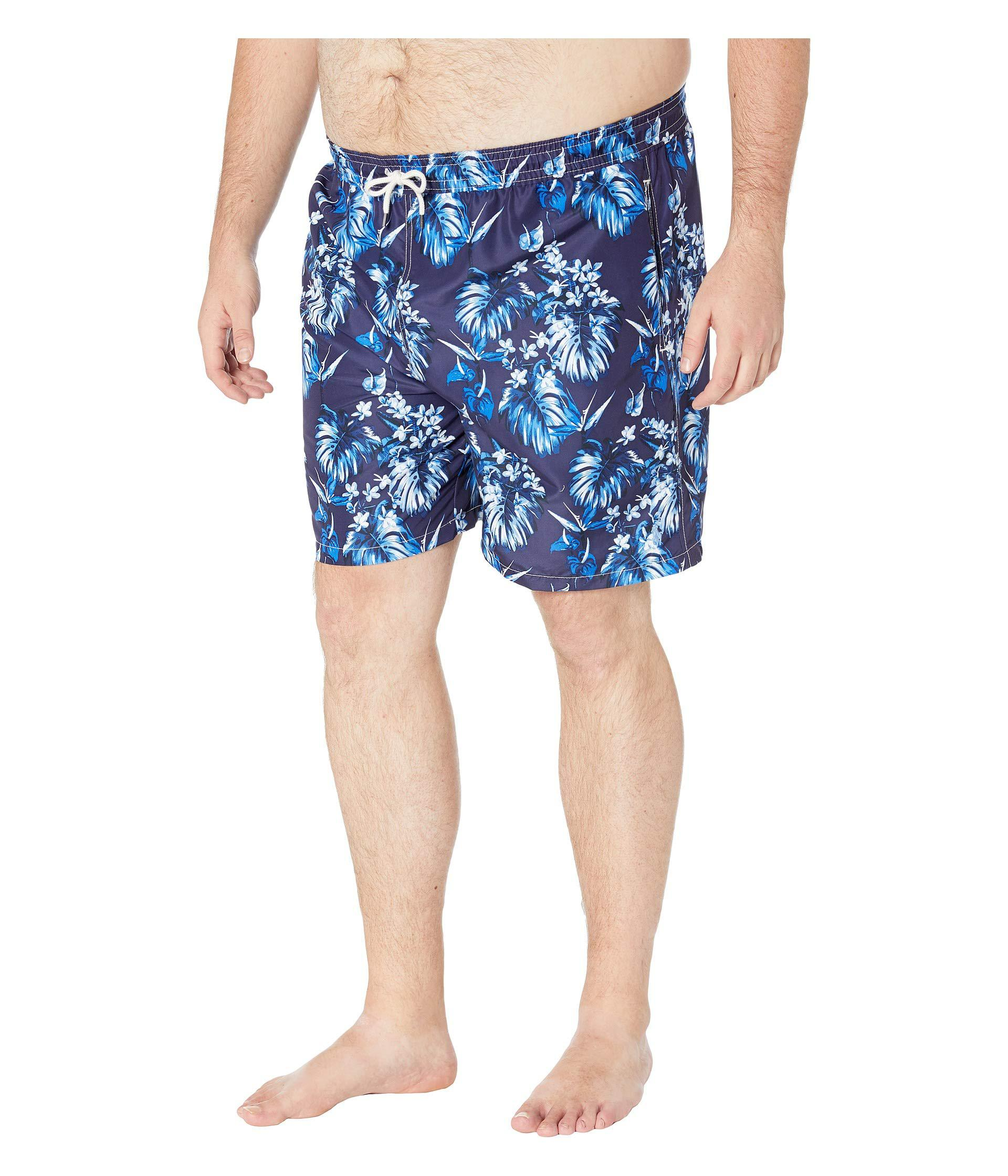 82cc33df0f ... official store lyst polo ralph lauren big and tall polyester traveler  swim trunks tonal floral mens