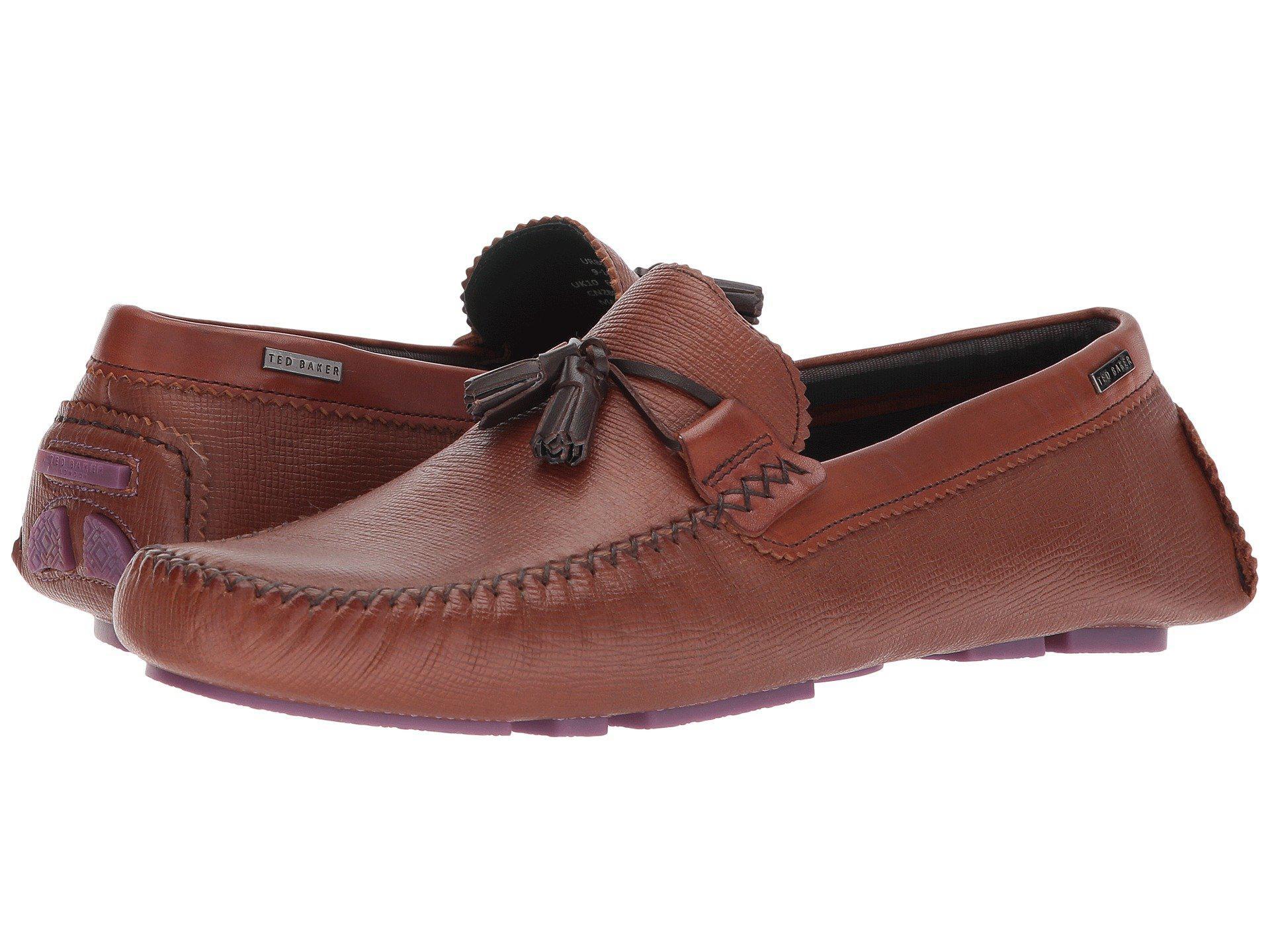 d7cd76046ad Lyst - Ted Baker Urbonn (dark Blue Leather) Men s Shoes in Brown for Men
