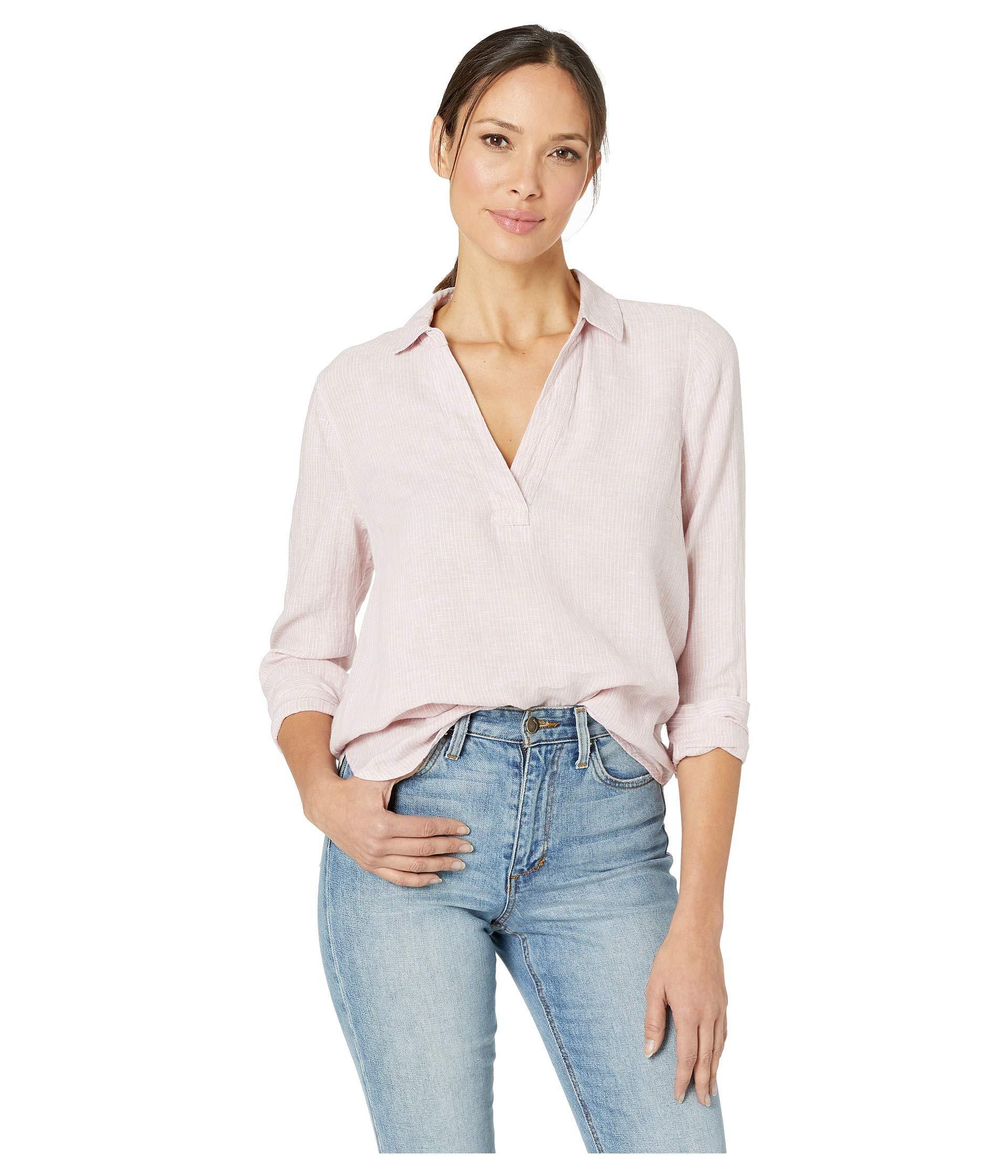 be9cdd8ec81 Lyst - NYDJ Linen Popover Tunic (optic White) Women s Clothing
