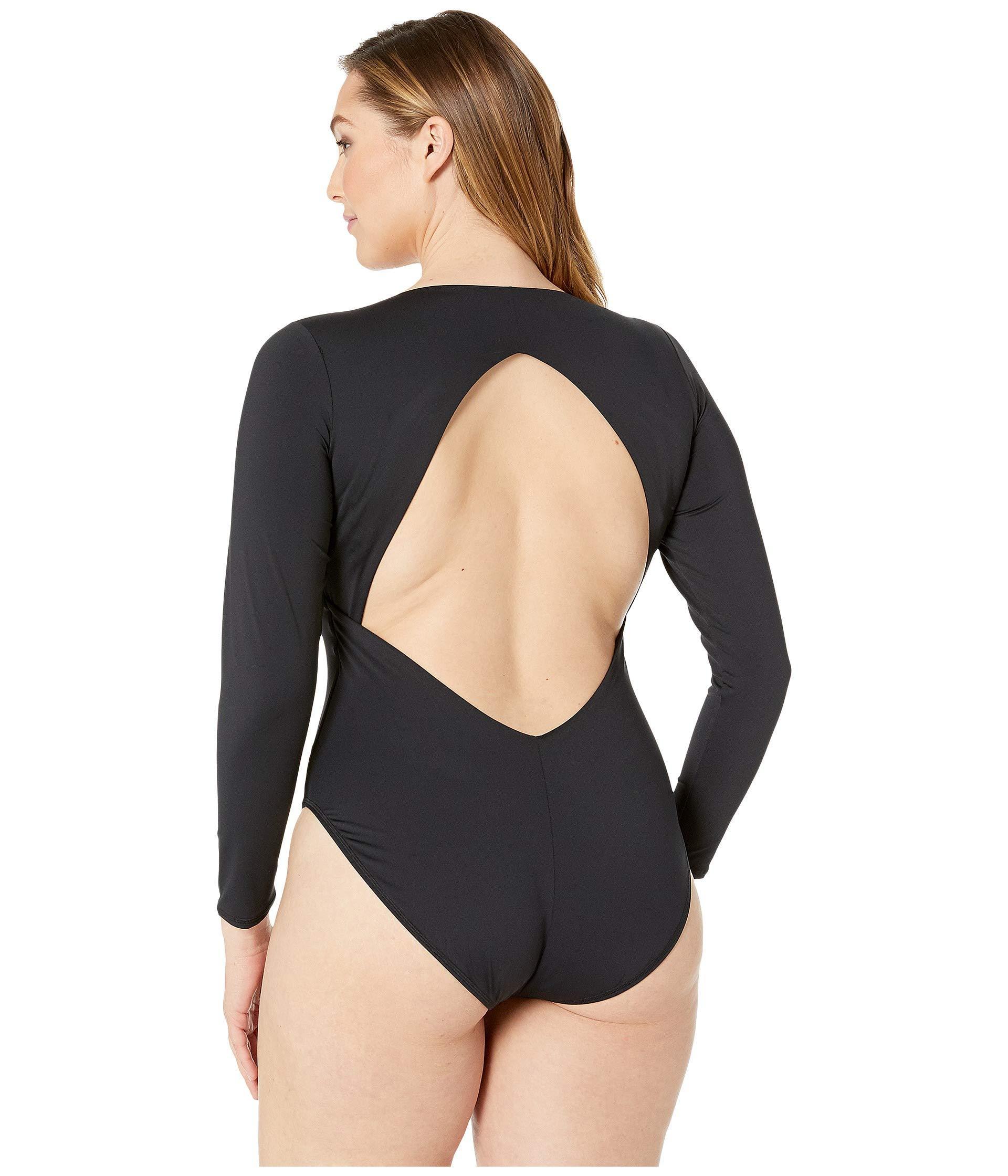 c6e65264c Volcom - Plus Size Simply Seamless Bodysuit (black) Women s Swimsuits One  Piece - Lyst. View fullscreen