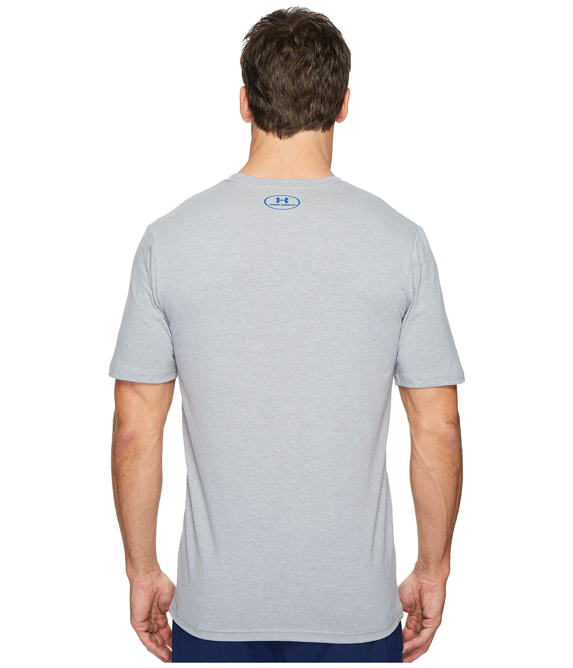 9e9d01c3 Lyst - Under Armour Basketball Icon Short Sleeve Tee in Gray for Men