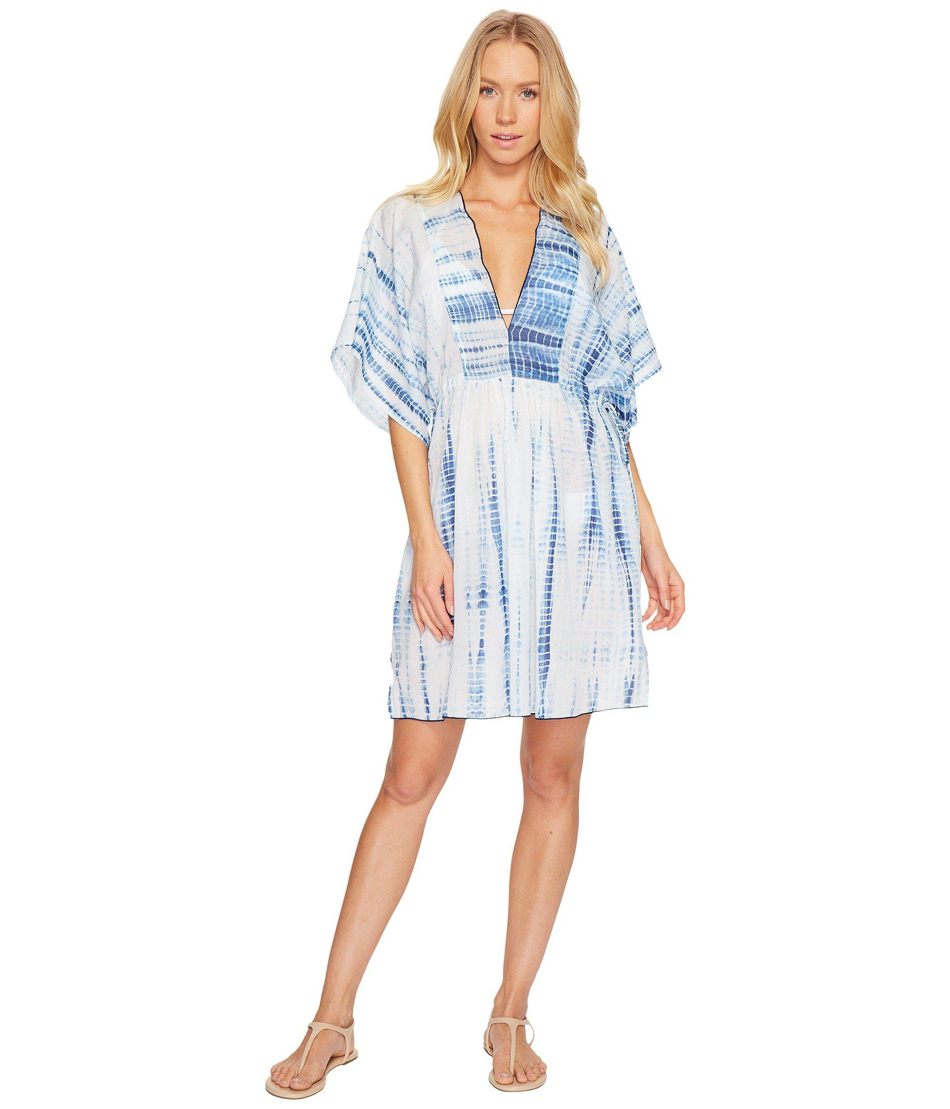0edf2a4c326fef Polo Ralph Lauren Voile Tie Back Tunic Cover-up (blue/white) Women's ...