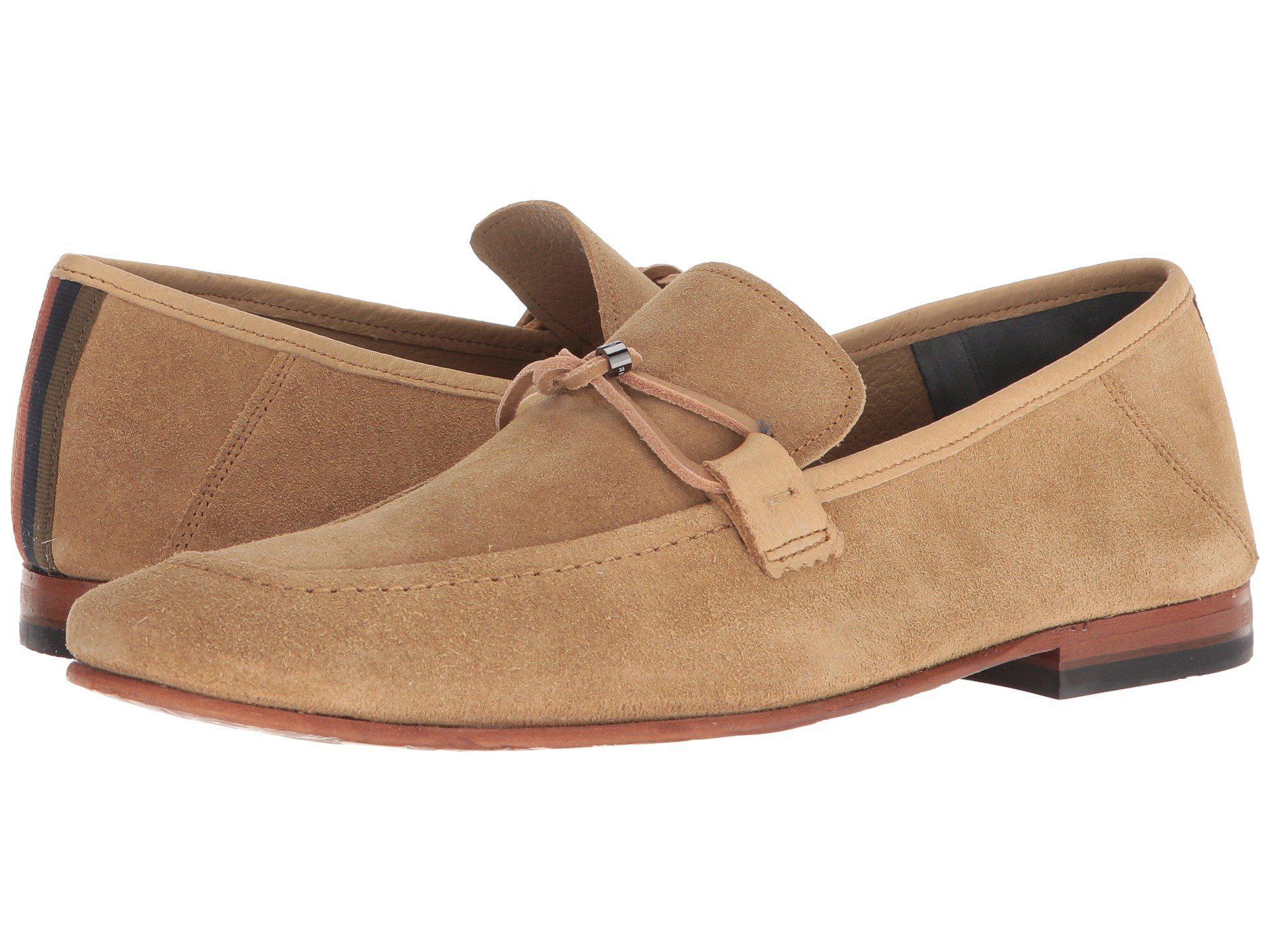 a6bf4c03df5 Lyst - Ted Baker Hoppken (red Suede) Men s Shoes in Natural for Men