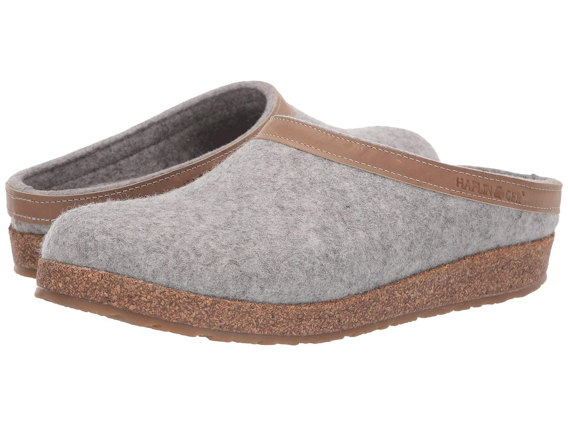 811803f3470 Lyst - Haflinger Gzl Leather Trim Grizzly (charcoal) Clog Shoes in Gray