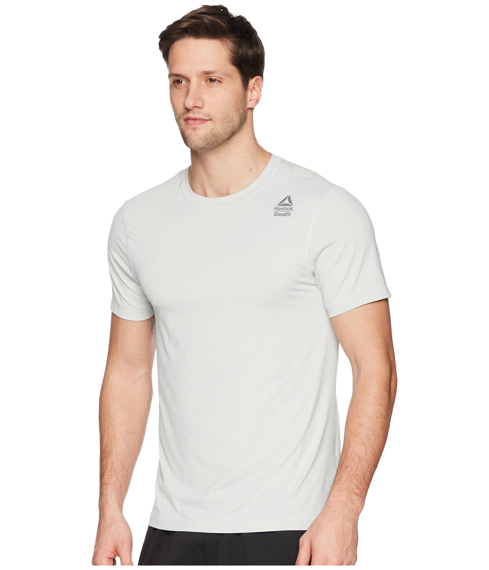 Lyst - Reebok Crossfit Activchill Vent Tee (skull Grey) Men s T Shirt in  Gray for Men d127e5bcd47