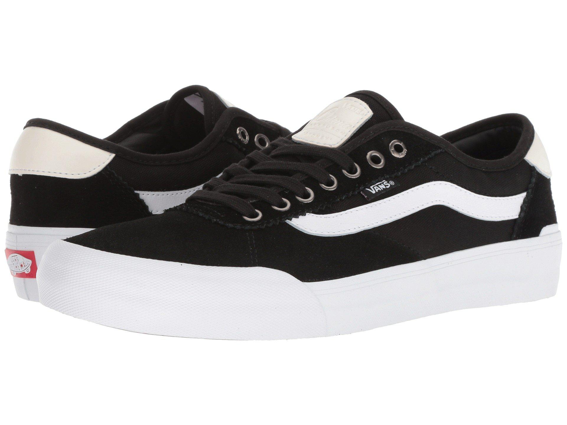 Lyst - Vans Chima Pro 2 ((suede canvas) Black white) Men s Skate ... 38aebd27a
