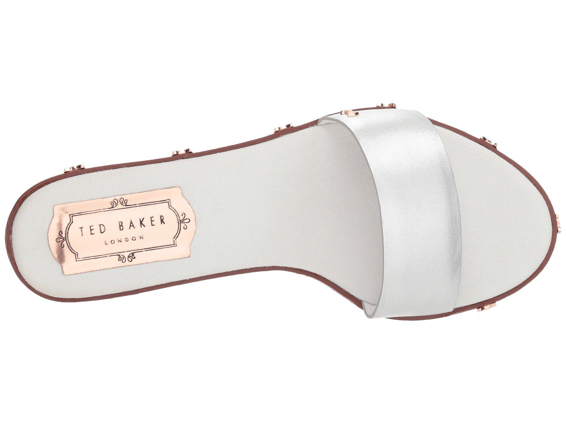 a99000501fd1ad Lyst - Ted Baker Kytti (silver Leather) Women s Shoes