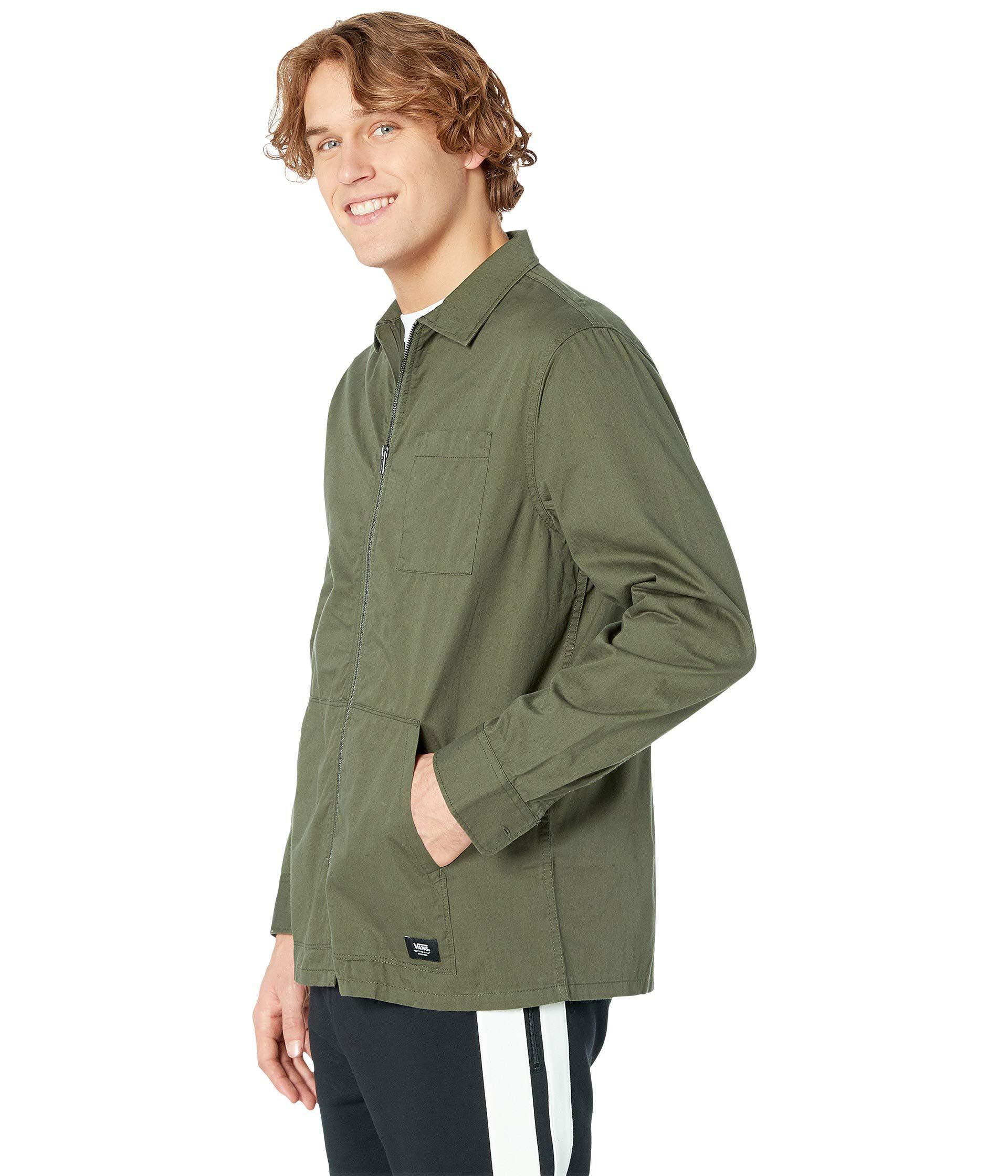 1e4717ec3f404d Lyst - Vans Felton Long Sleeve Woven Jacket (grape Leaf) Men s Clothing in  Green for Men