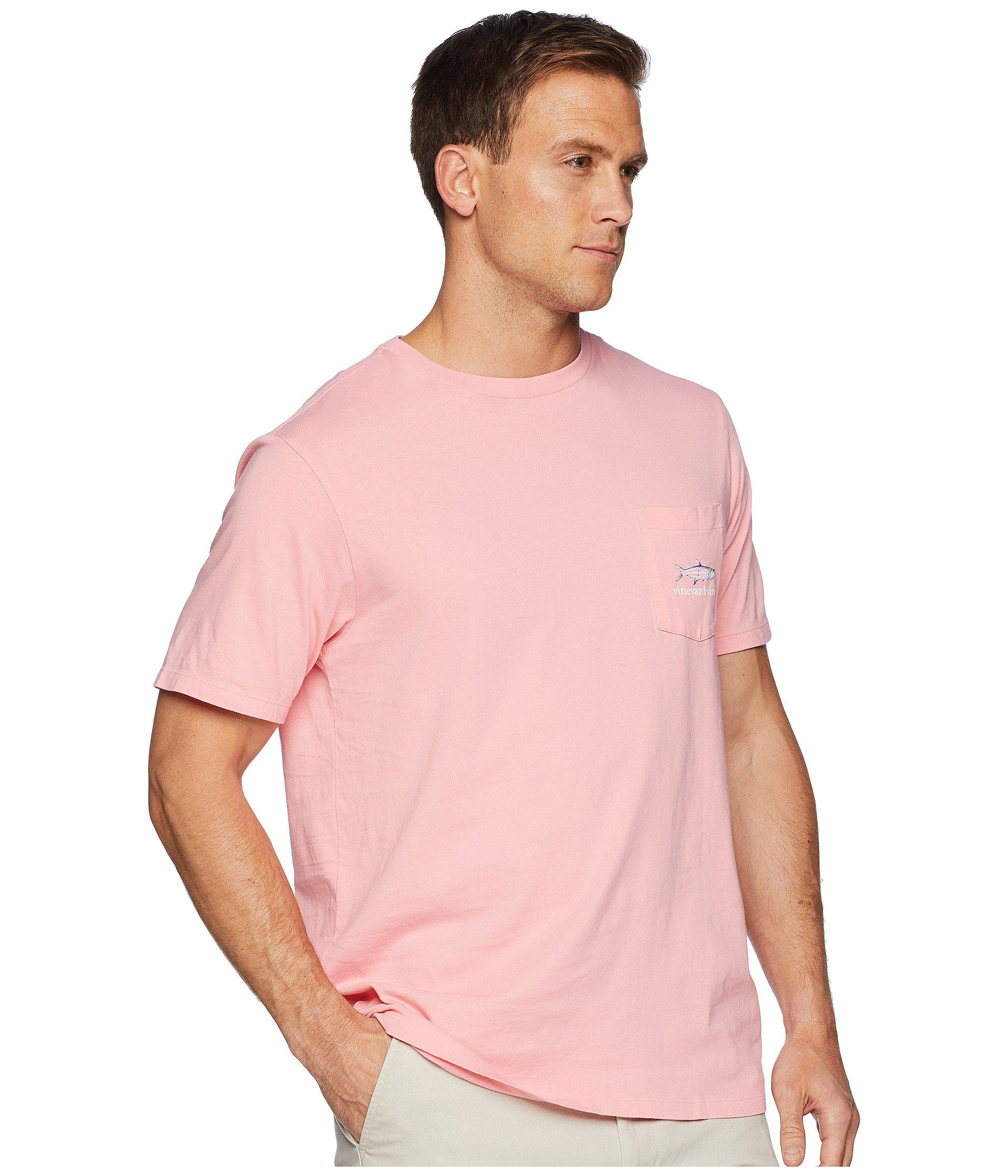 11cdc025 Vineyard Vines Short Sleeve Painted Tarpon Pocket Tee (strawberry ...