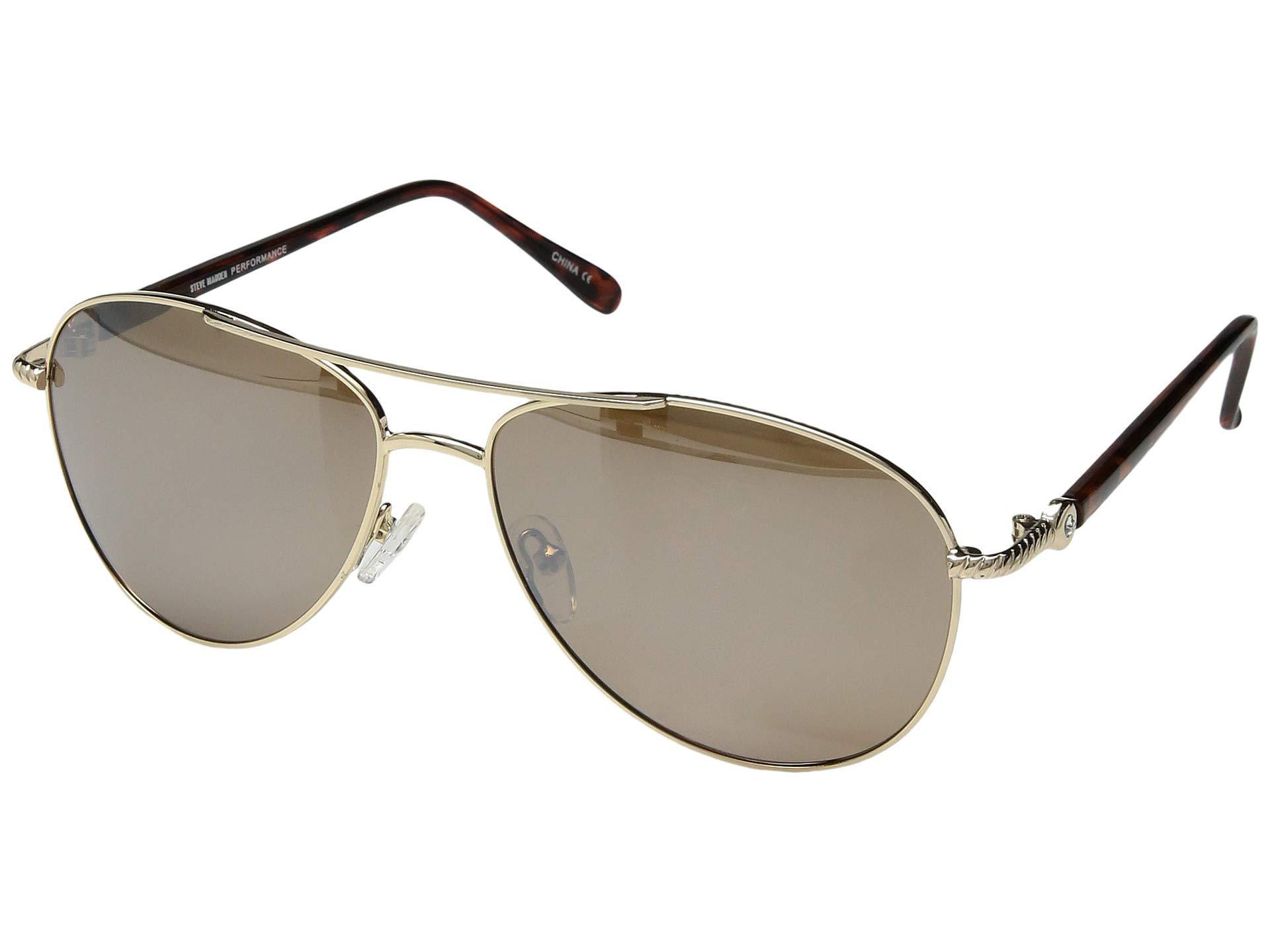 d50ea63667 Steve Madden. Women s Metallic Polarized Nina (rose Gold brown Lens rose  Gold Mirror) Fashion Sunglasses