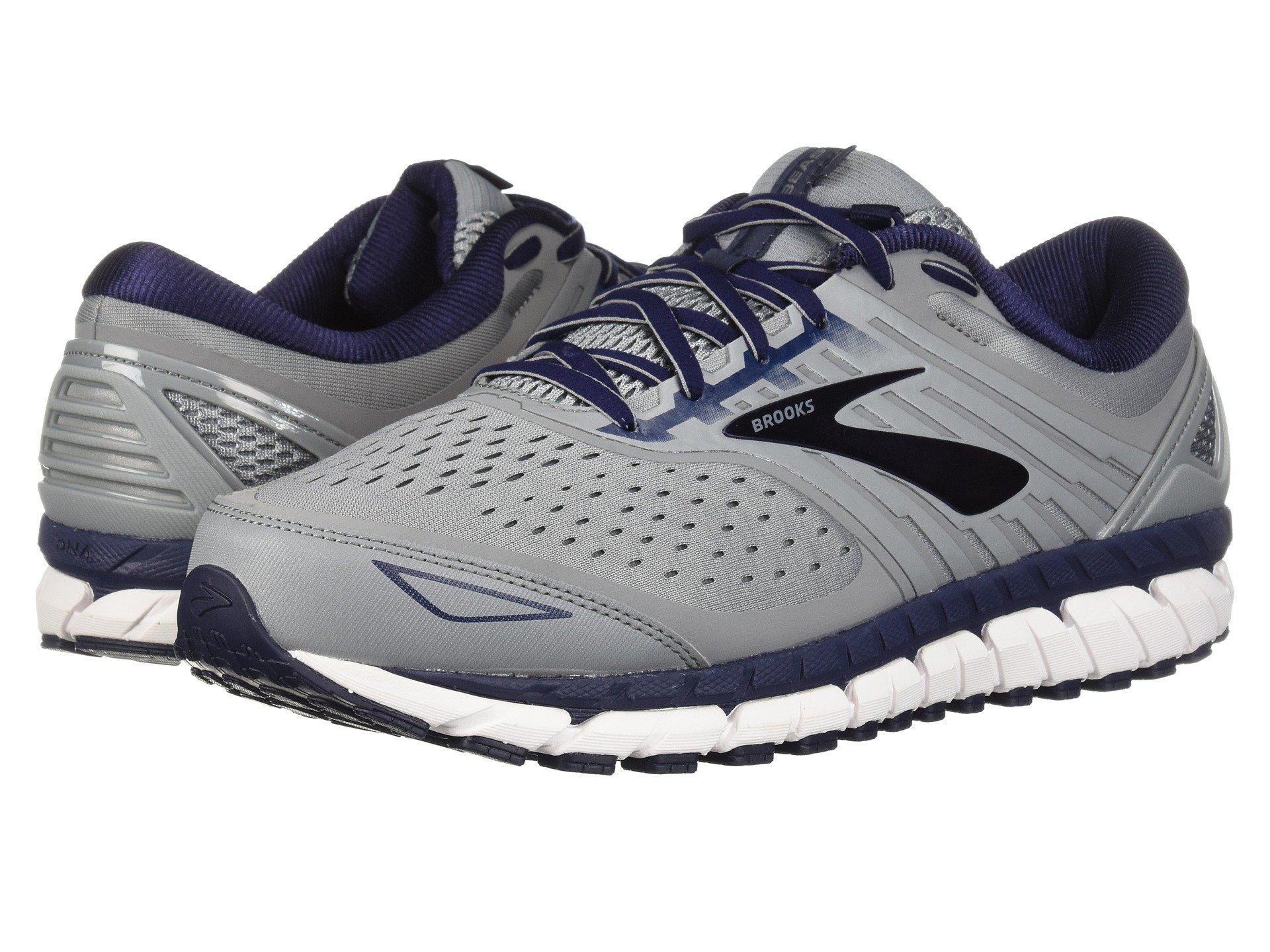 a92394eace944 Lyst brooks beast black grey silver mens running shoes jpg 1920x1440 Brooks  tennis shoe white