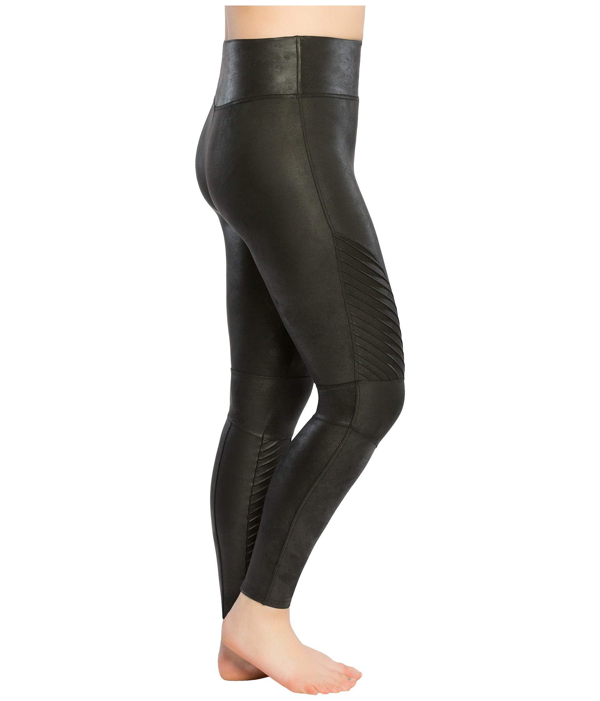 2b0e26d7e1b Lyst - Spanx Plus Size Faux Leather Moto Leggings (very Black) Women s  Casual Pants in Black