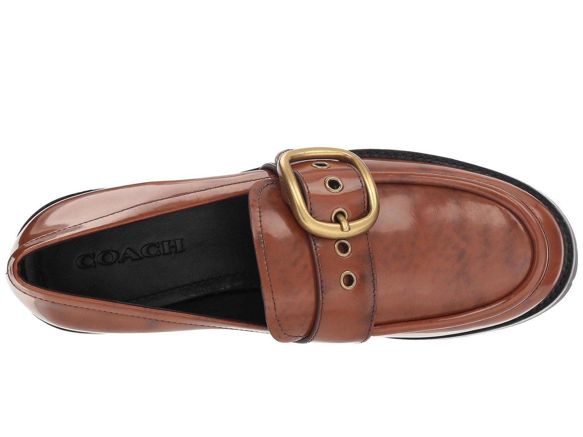 1a7dcb5384c Lyst - COACH Grand Lug Sole Loafer (lion Cordovan) Women s Shoes in ...