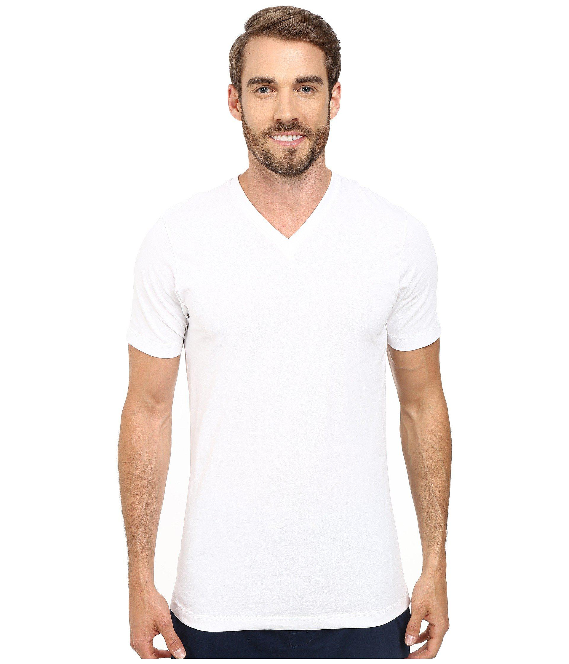 42eb8c26 Jockey Cotton Slim Fit V-neck Neck T-shirt 3-pack (white) Men's T Shirt in  White for Men - Lyst