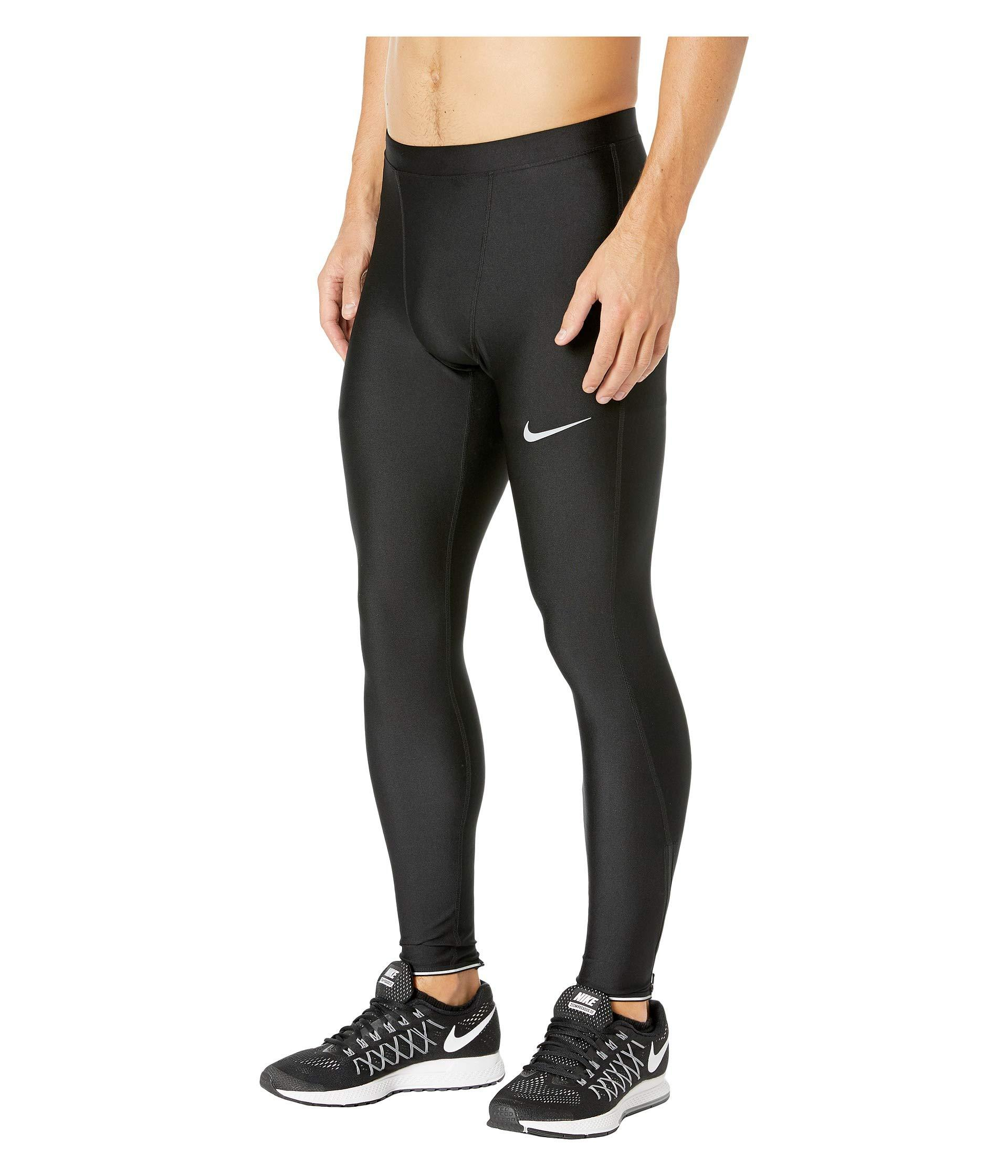 ab3787b9caec1 Nike Run Mobility Tights (black/reflective Silver) Men's Workout in ...