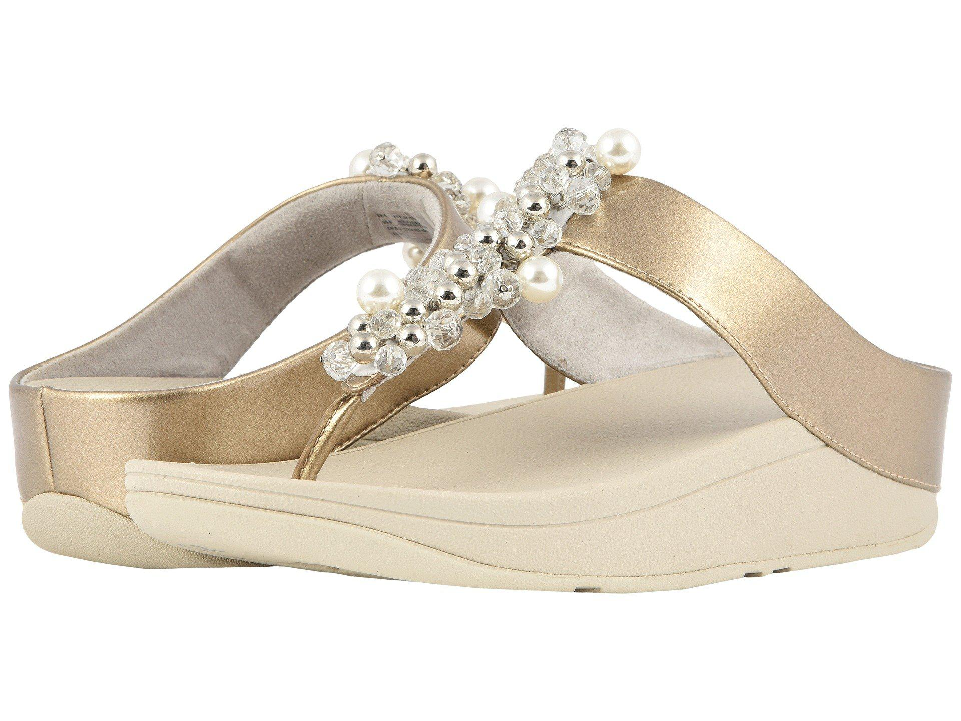 b29bde5d1 Lyst - Fitflop Deco Toe Thong Sandals (black) Women s Shoes in Metallic