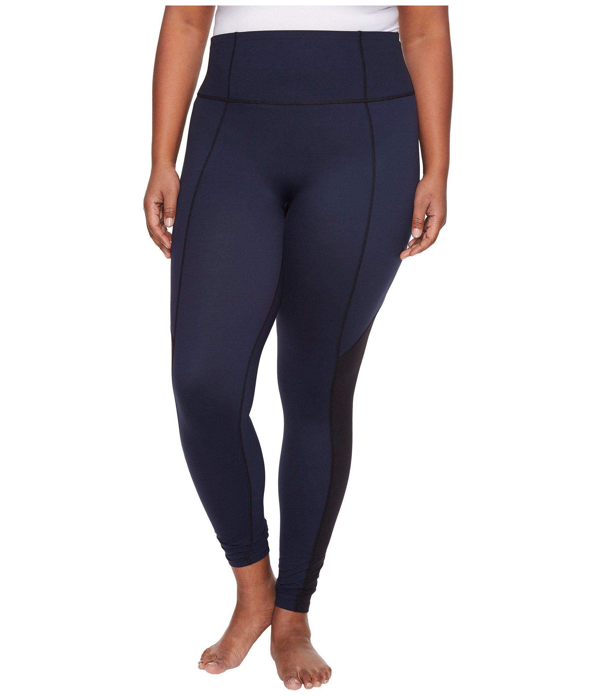 e92224ffdf3 Spanx Plus Size Active Compression Crop Pants in Blue - Lyst