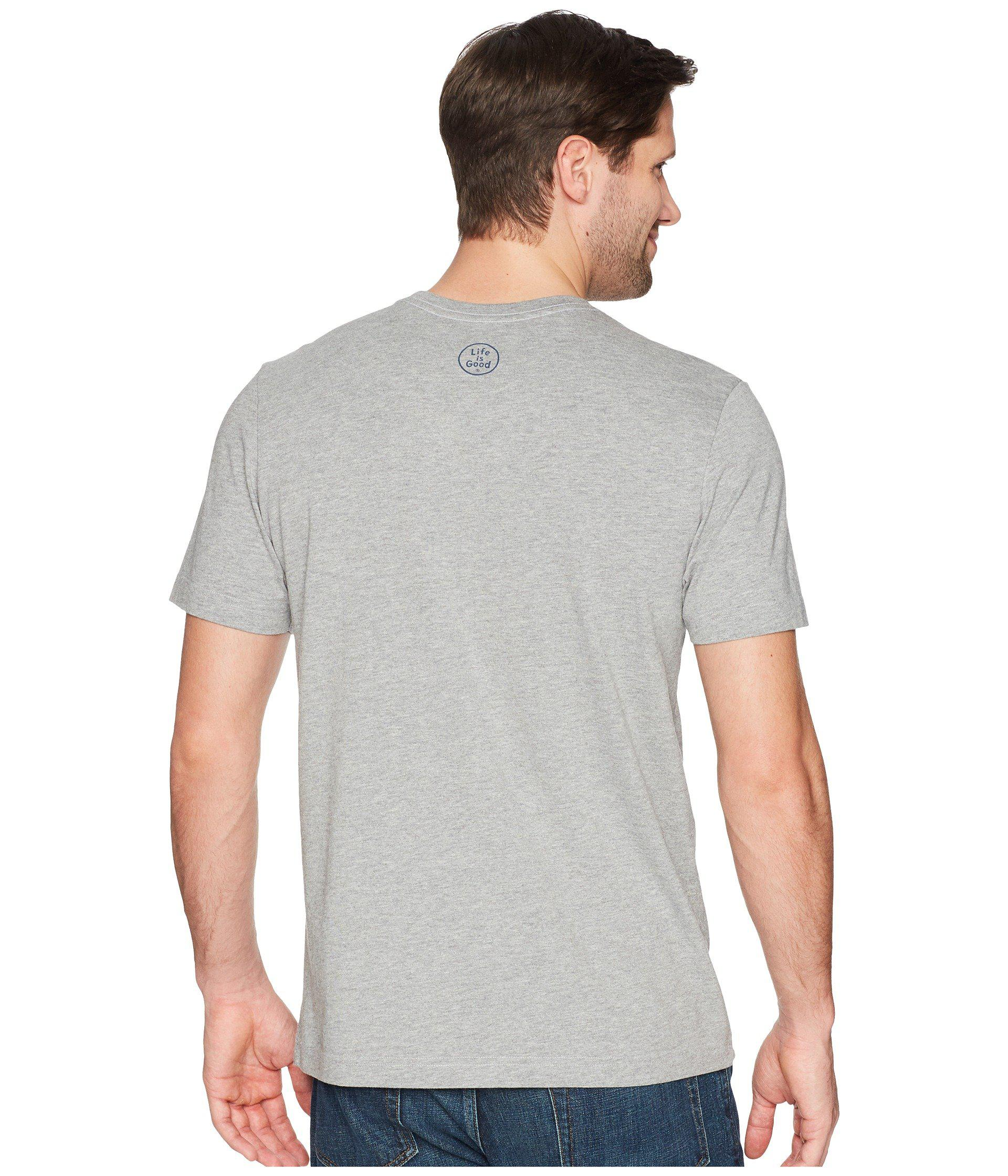 64dc29cec19 Lyst - Life Is Good. Papa Bear Crusher Tee in Gray for Men