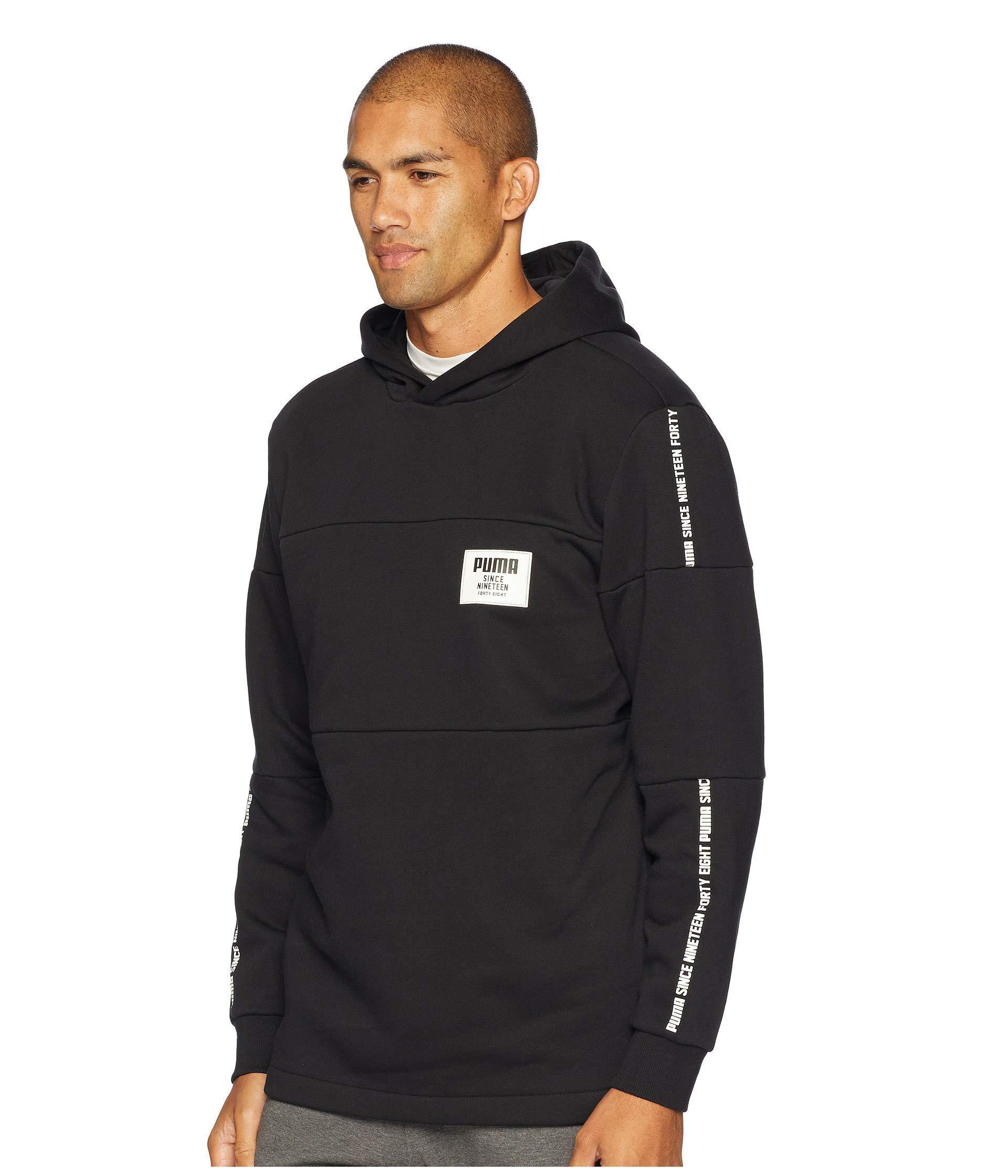 2cd249f106f1 Lyst - PUMA Rebel Block Fleece Hoodie (peacoat) Men s Sweatshirt in ...