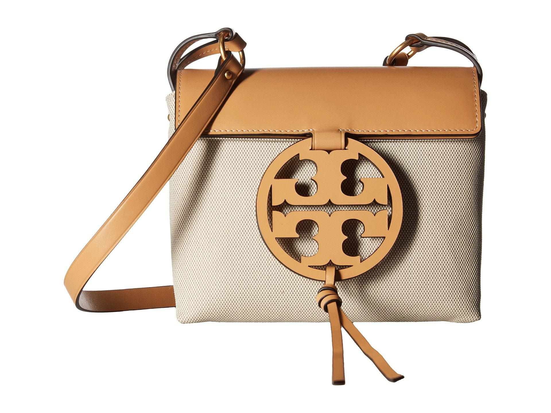 502c7248ea3 Lyst - Tory Burch Miller Crossbody Canvas (natural vachetta ...