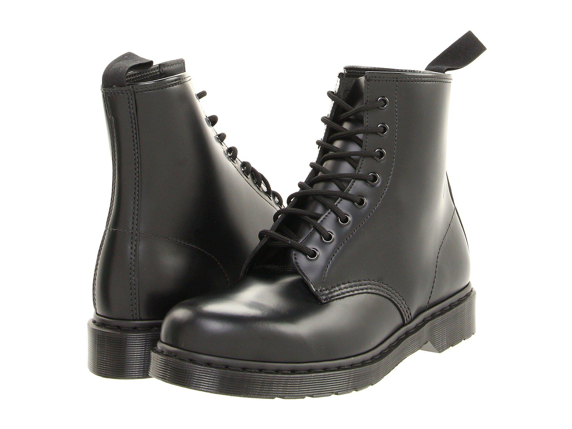 f572334d4f1919 Lyst - Dr. Martens 1460 8-tie Boot (black Smooth) Lace-up Boots in Black