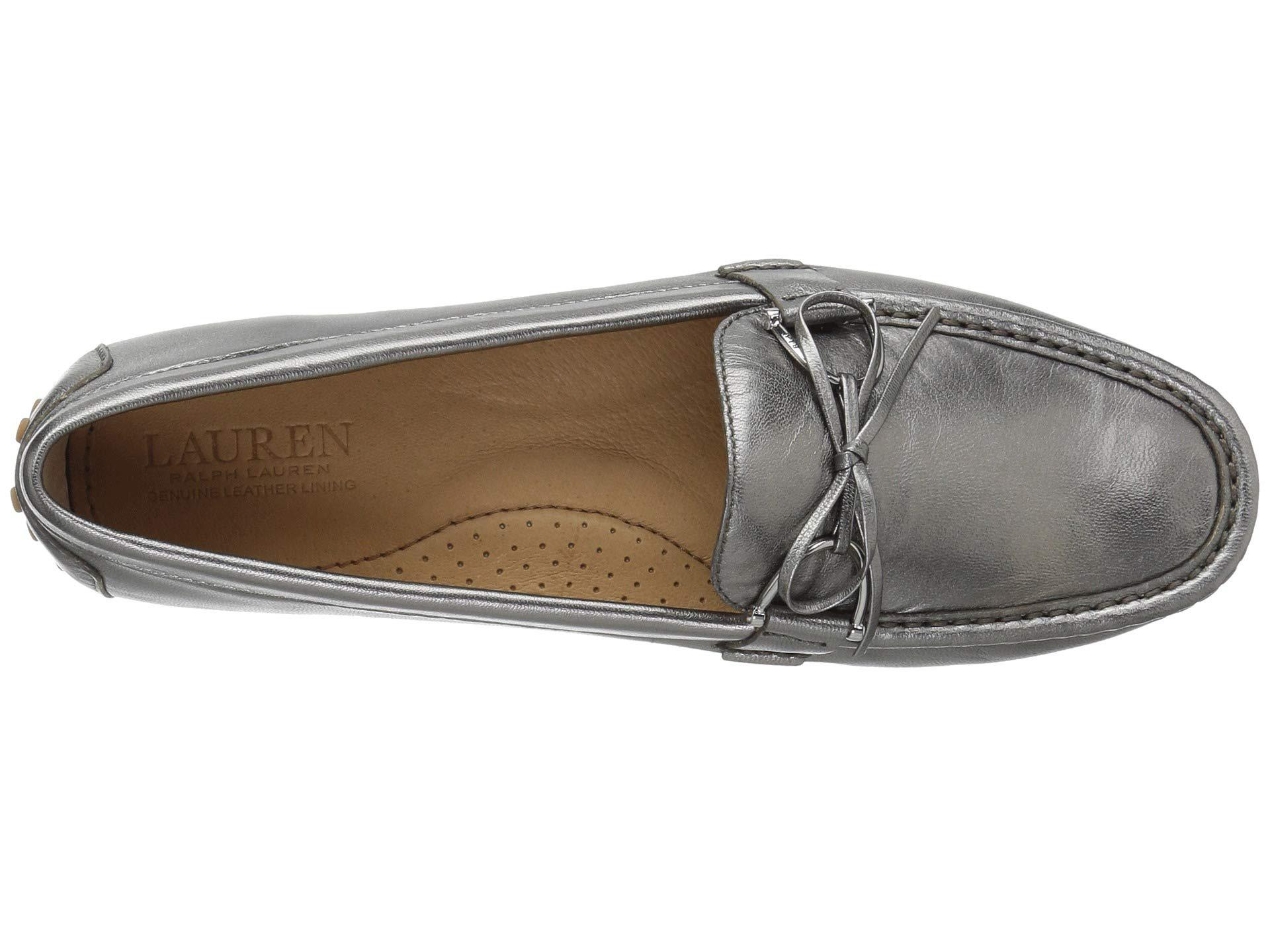 1f434a1b711 Lyst - Lauren by Ralph Lauren Briley Moccasin Loafer (gunmetal ...