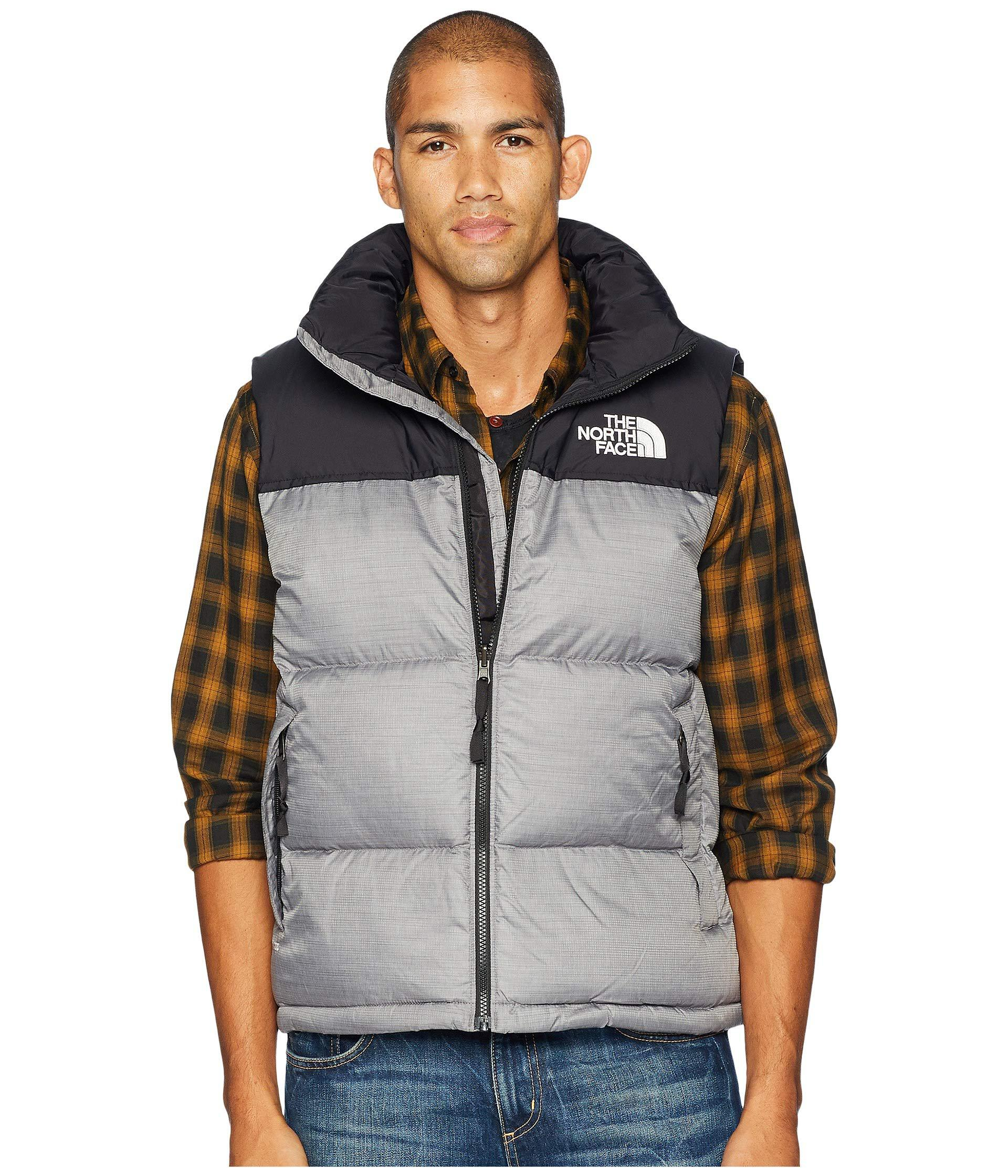 93f5f3bab5 The North Face 1996 Retro Nuptse Vest (tnf Red) Men's Vest in Gray ...